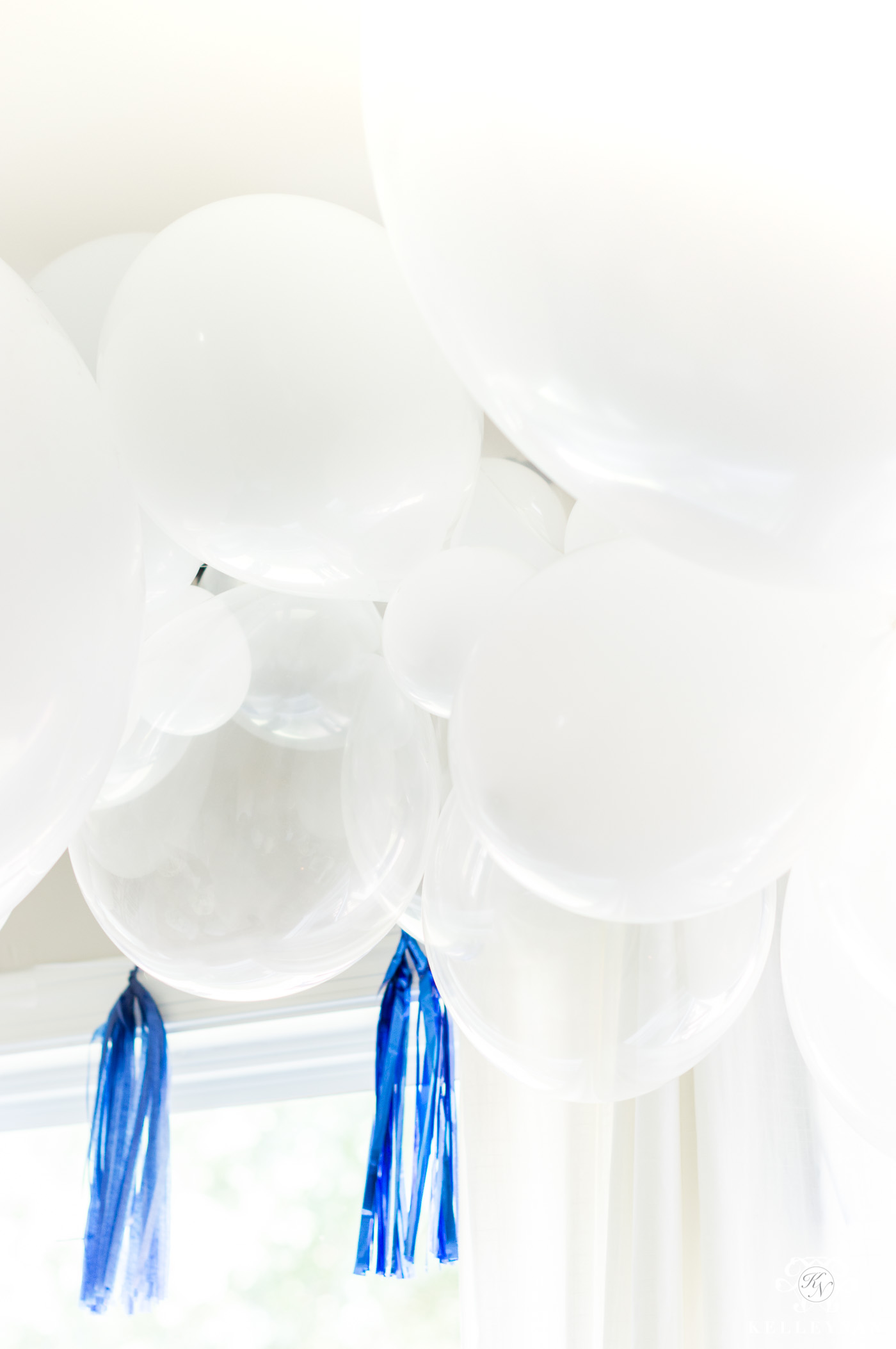Easy DIY Balloon Garland to Look Like Clouds