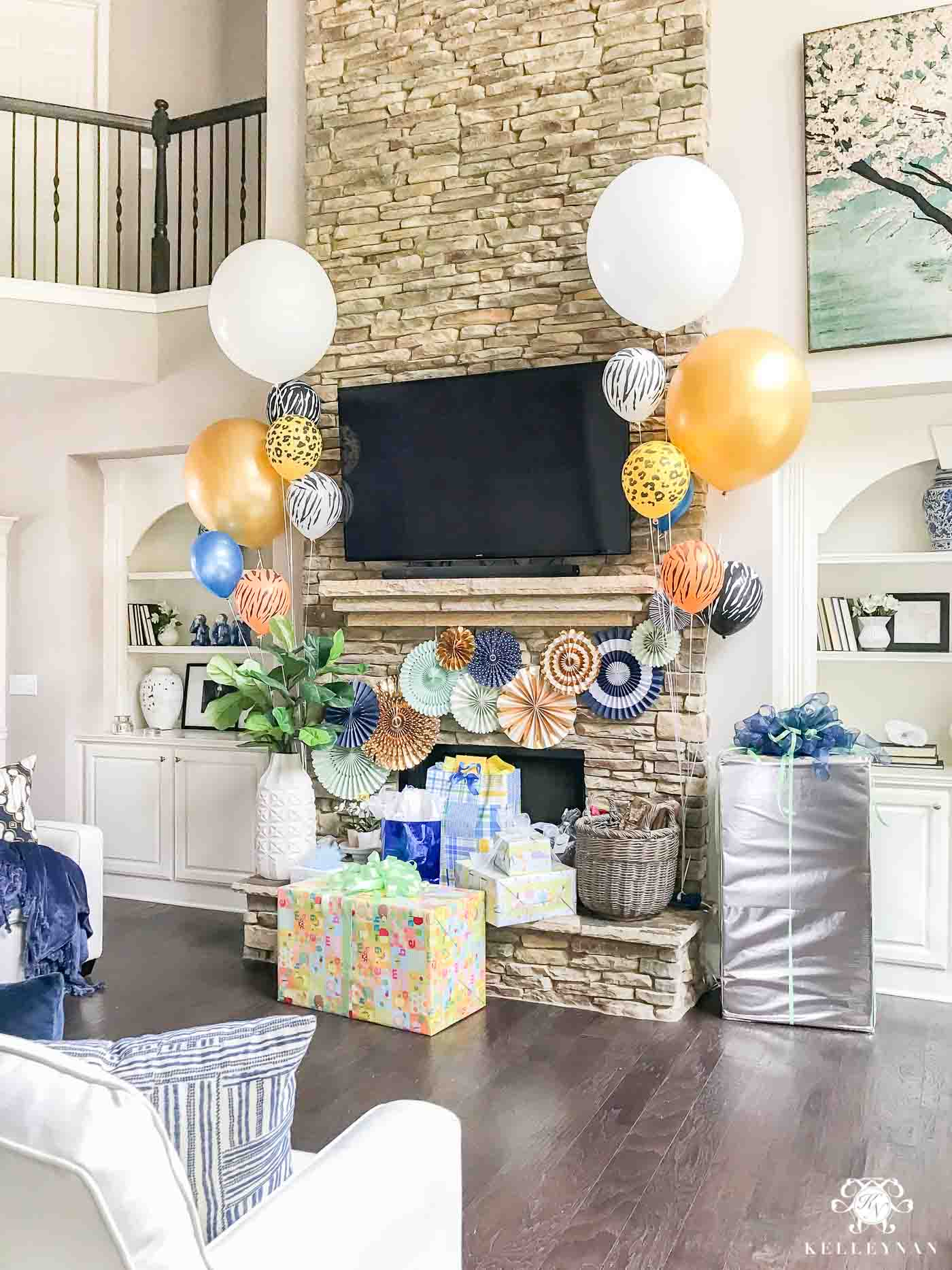 Noah's Ark Themed Baby Shower for Twin Boys
