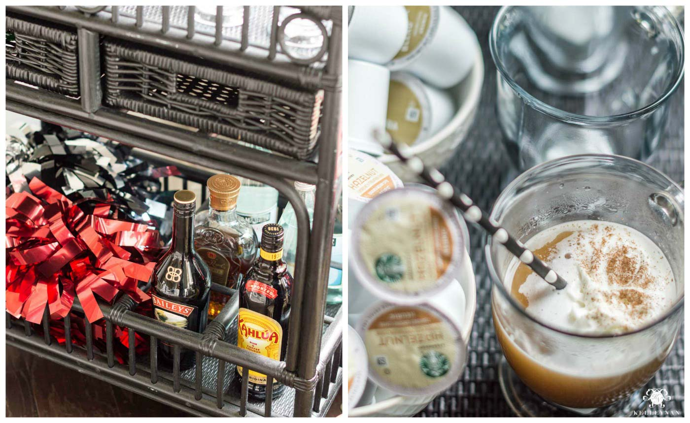 Brunch party coffee bar ideas