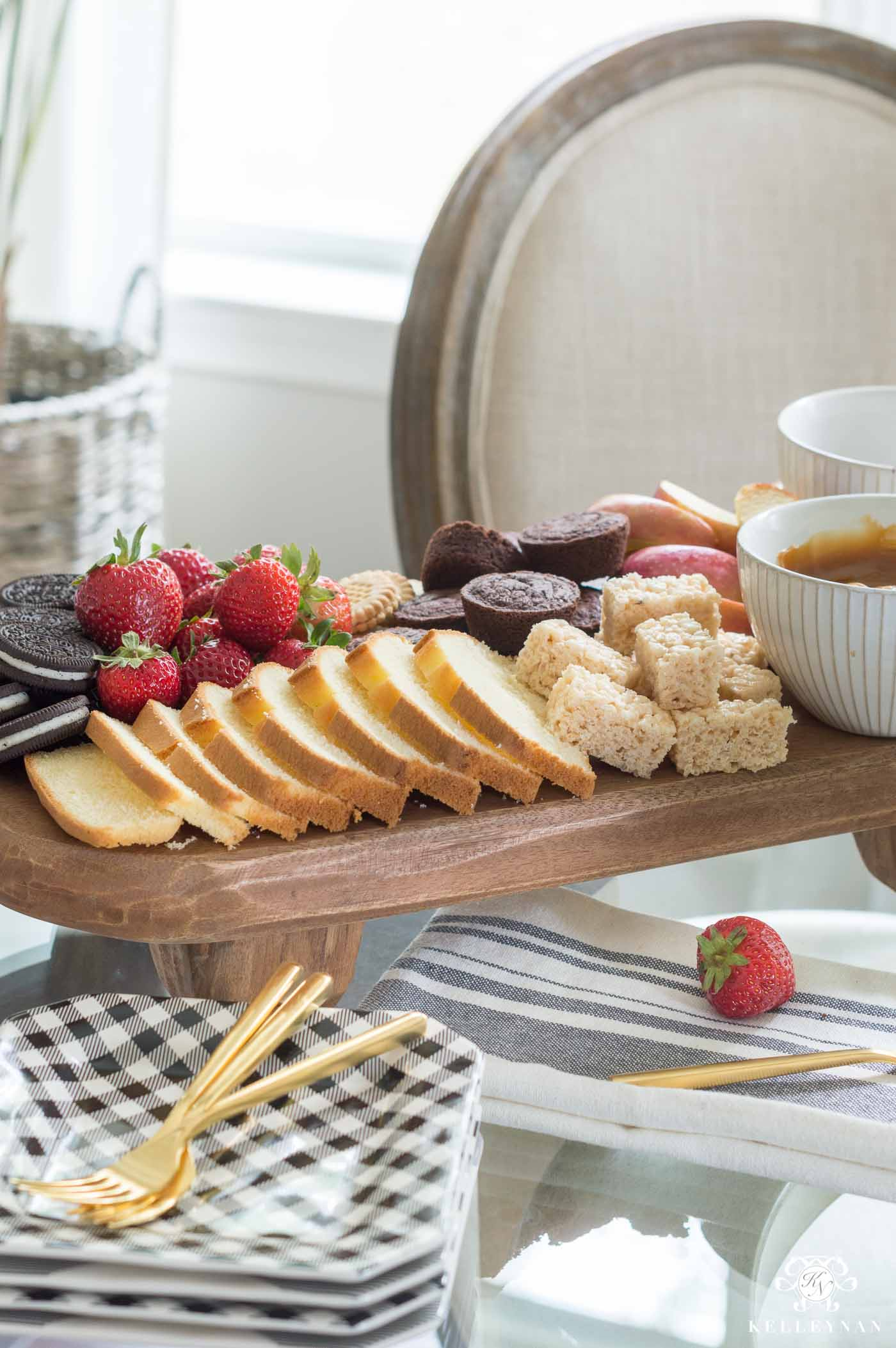 Fruit and Baked Goods Dessert Platter Ideas