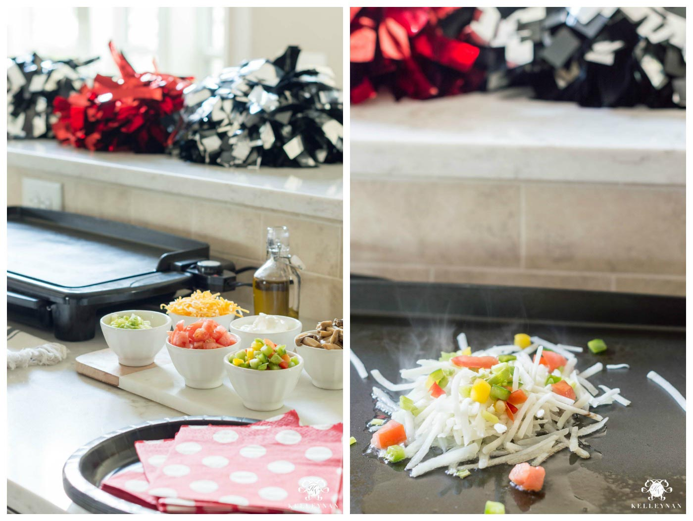 Brunch buffet ideas with a hashbrown bar