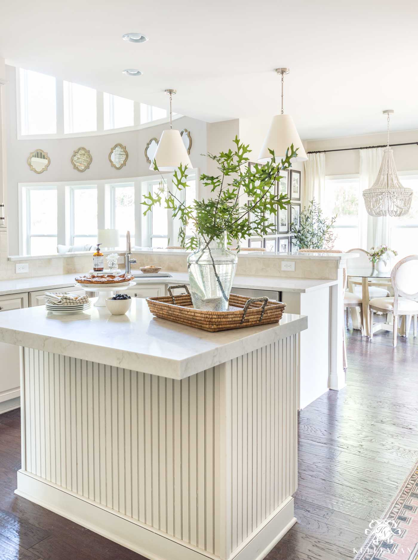 Styling a kitchen island and other modern kitchen updates