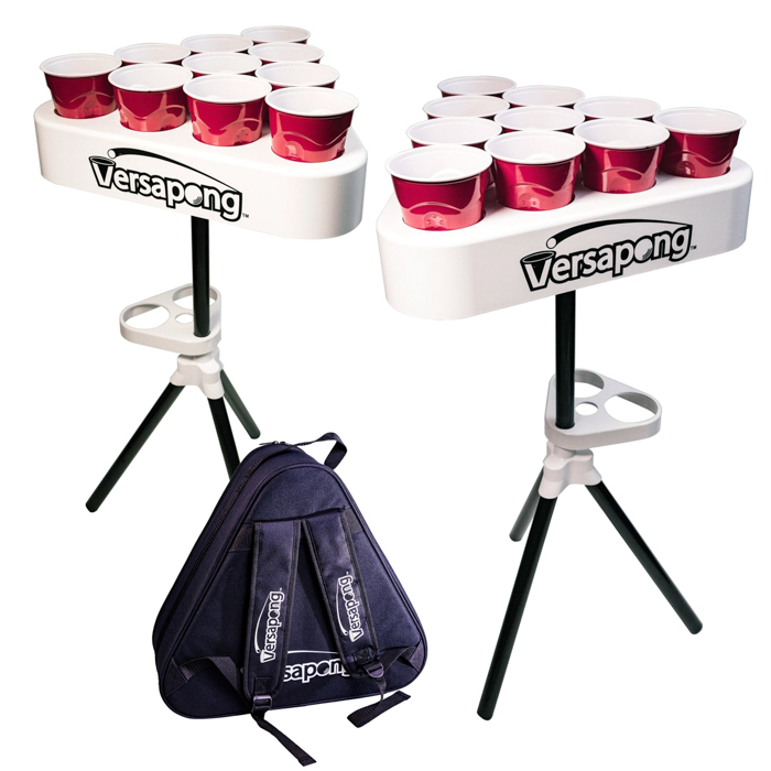Portable beer pong for tailgating and game day