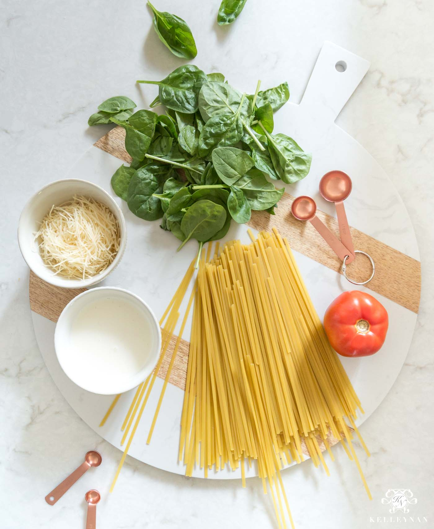 How to make spinach fettucine alfredo from scratch - simple step by step recipe!