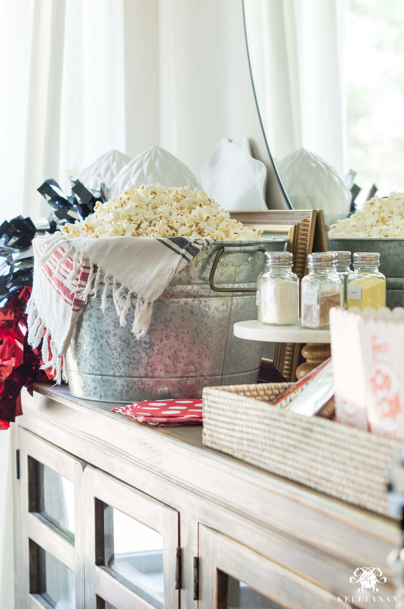 Popcorn bar ideas for football parties