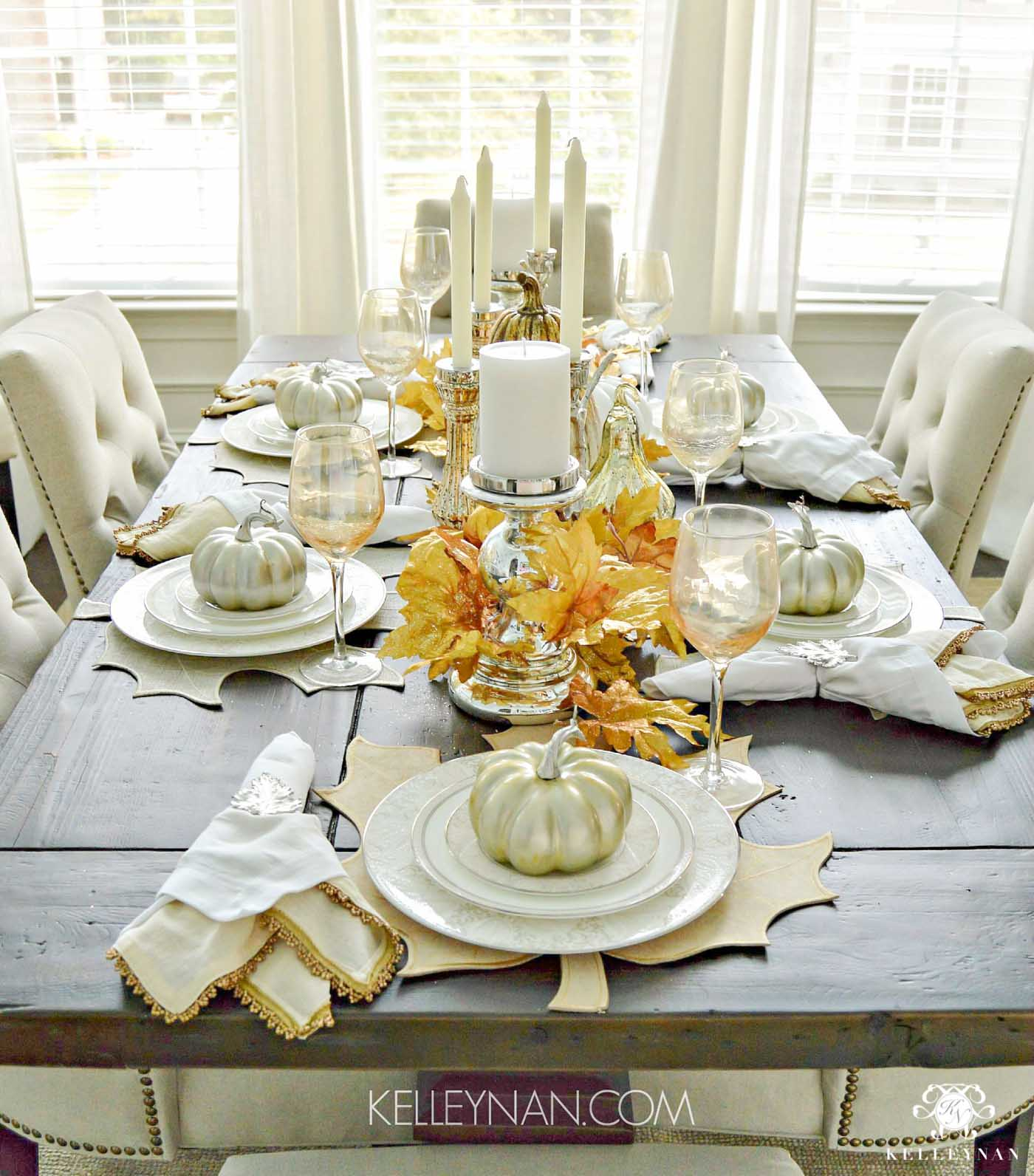 Fall Tablescape Ideas and Place Settings