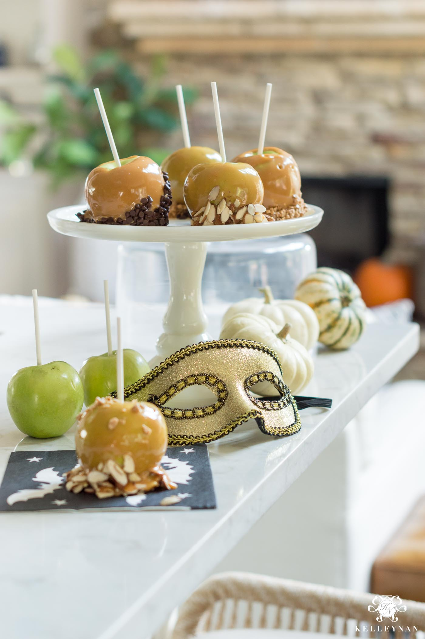 Caramel Apples with various topping ideas