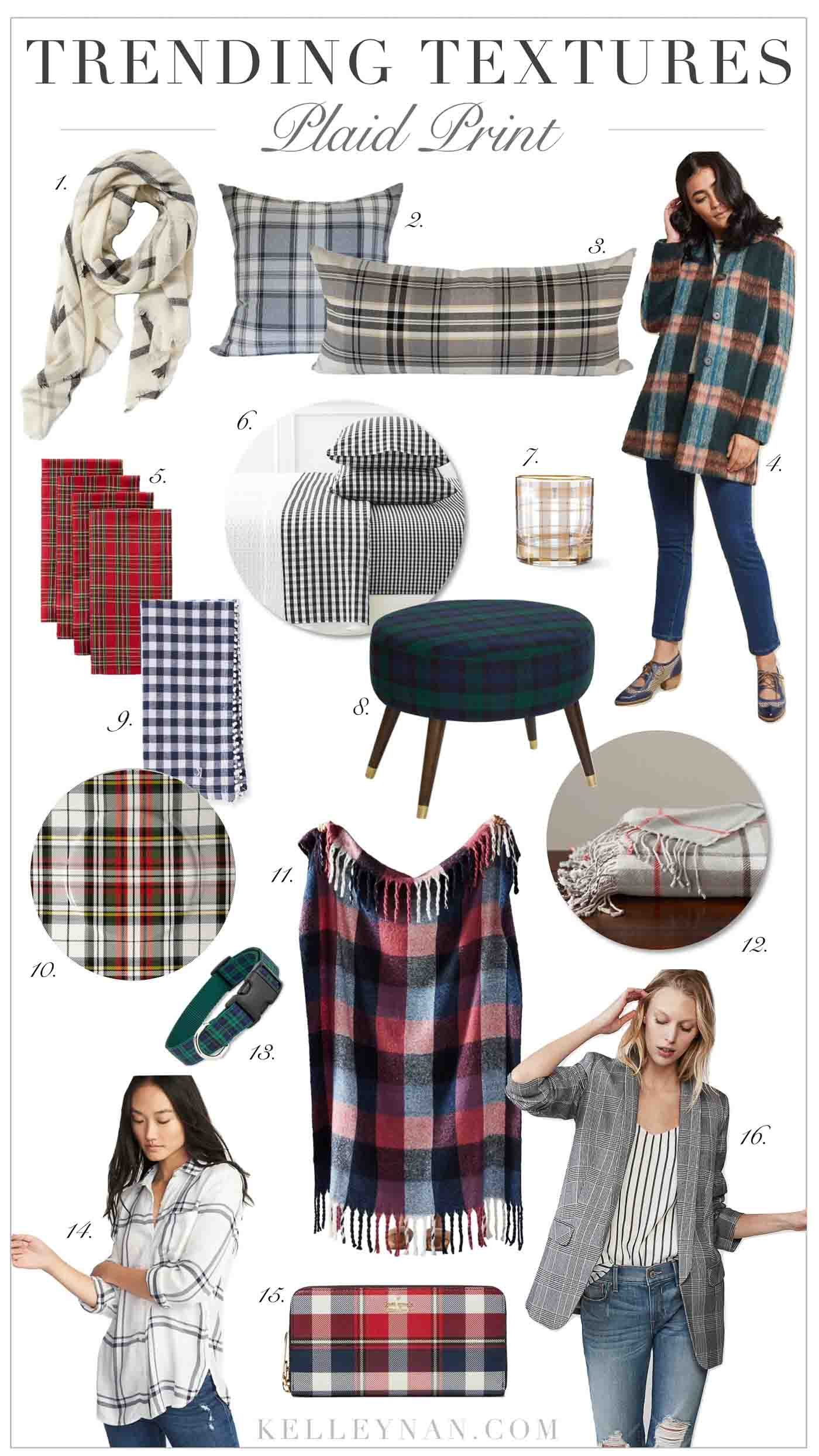 Best Of Plaid, Gingham, and Buffalo Check Fall and Winter Home & Fashion