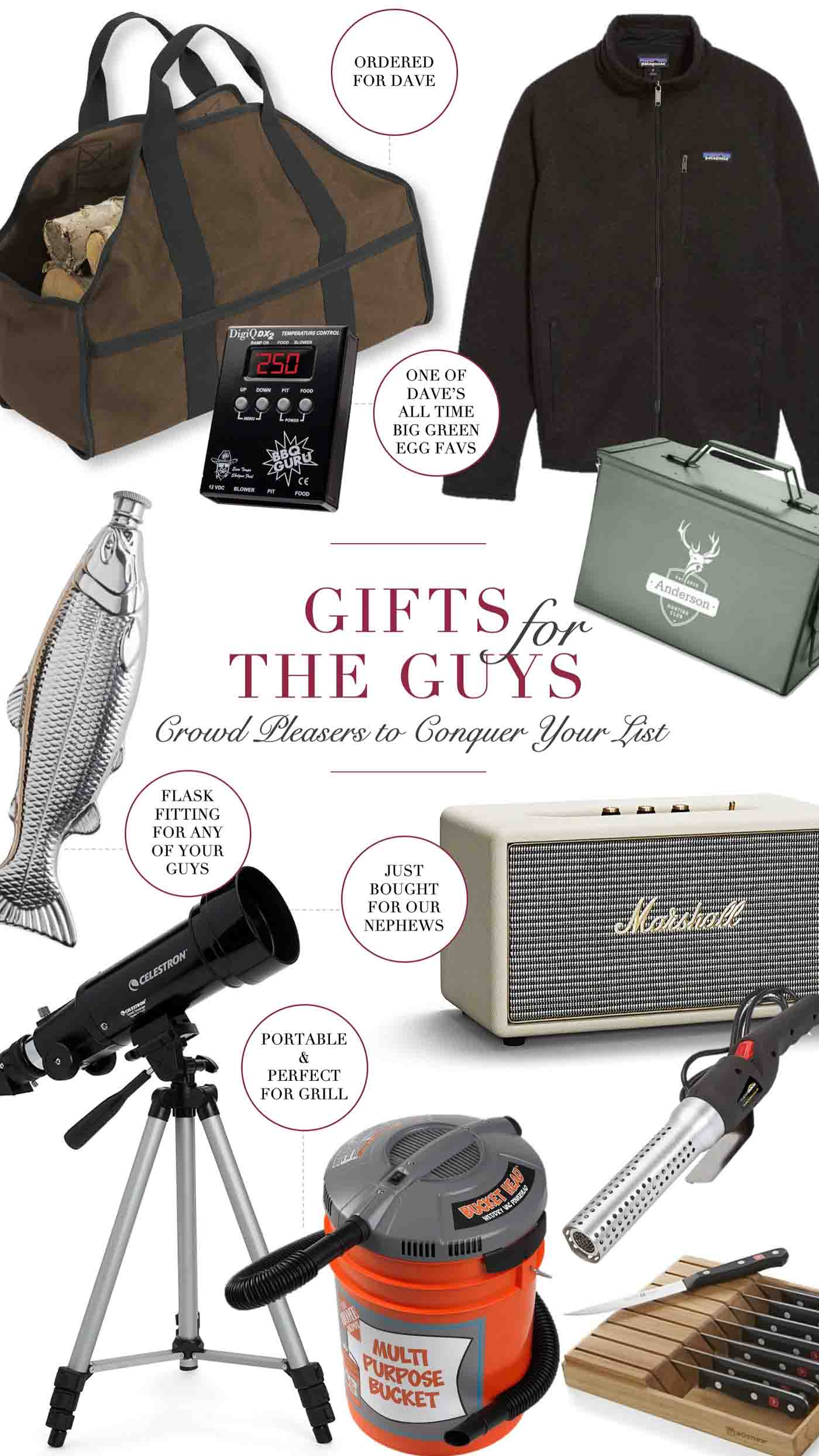 favorite gifts for men from dads to husband and boyfriend