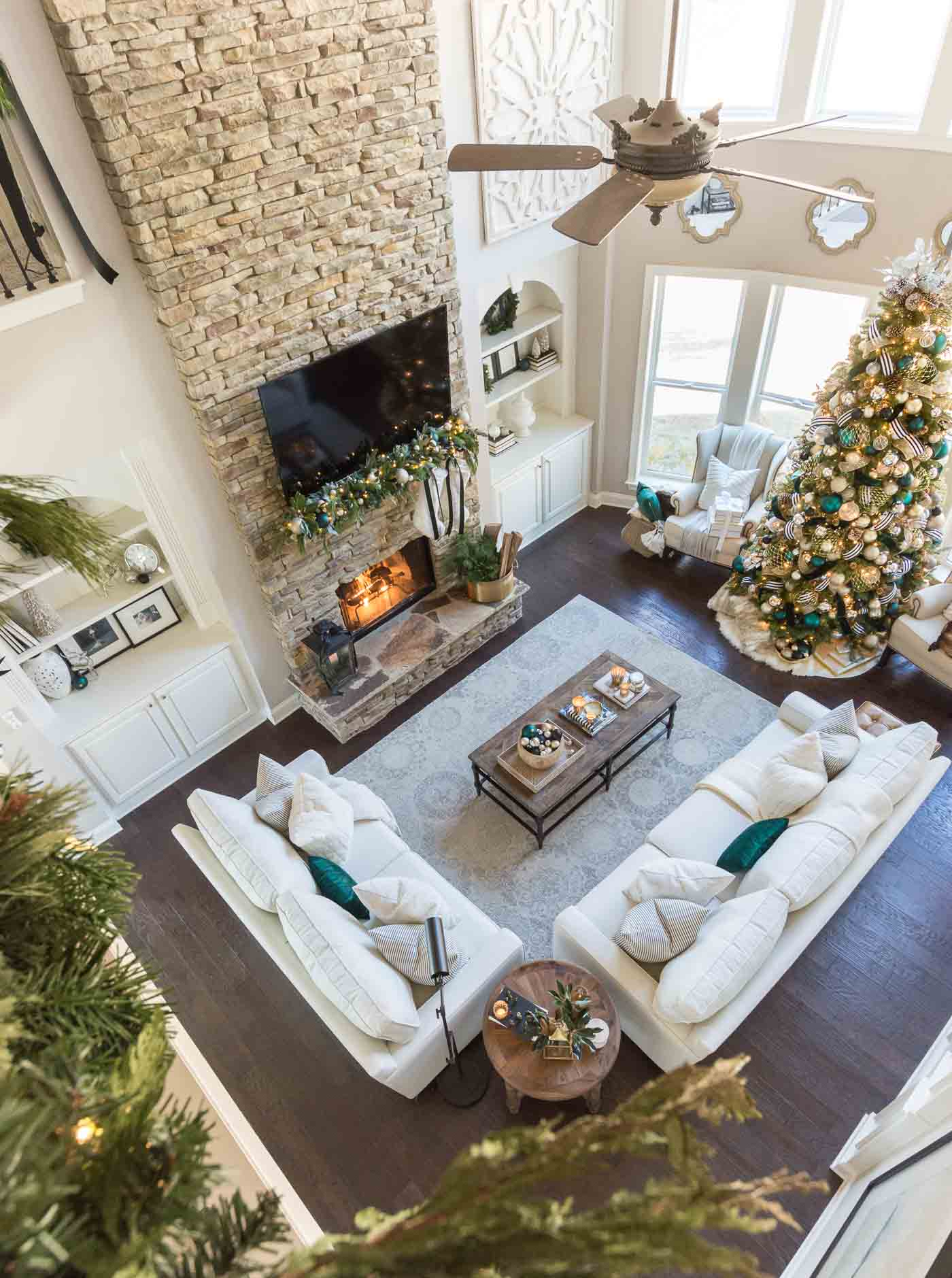 Ideas for Christmas living room decorations