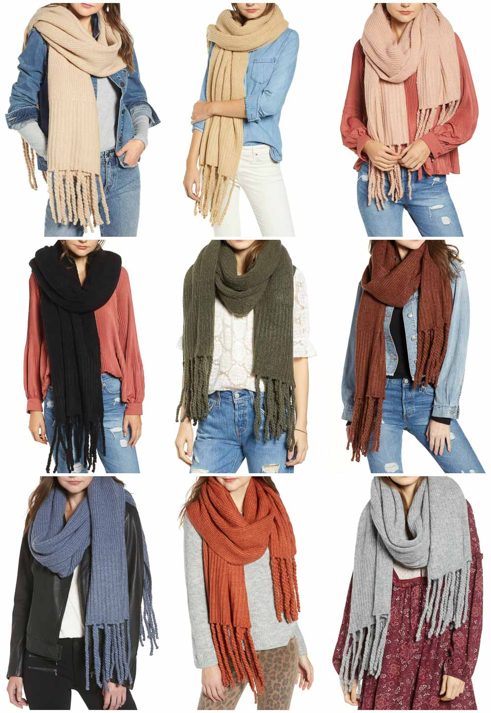 Free People Long Scarf