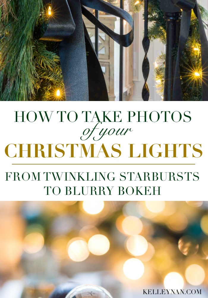Tips on how to take pictures of your Christmas Tree Lights - from twinkle starbursts to blurry soft bokeh
