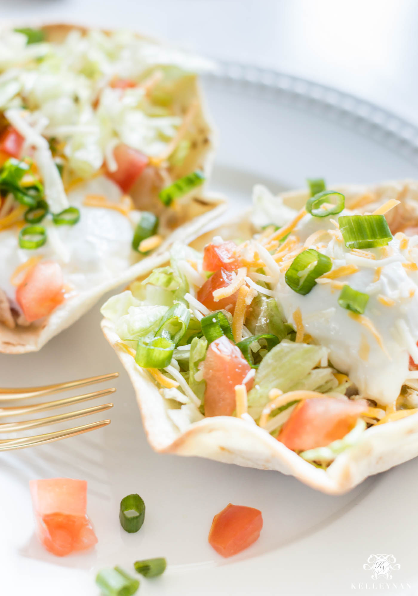 Mini Chicken Taco Salad Recipe for an easy weeknight dinner