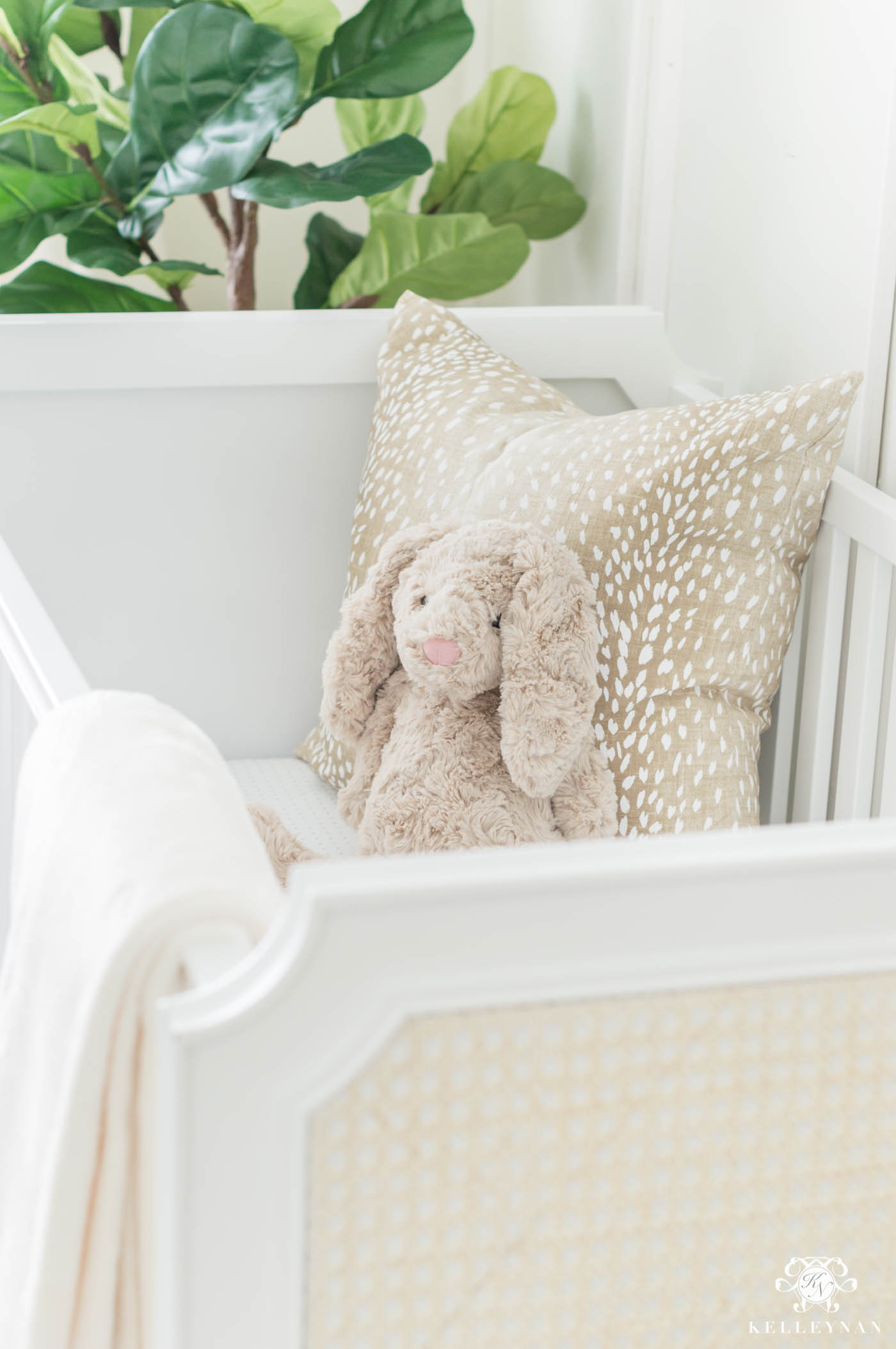 Transitional neutral nursery with woodland and forest animals