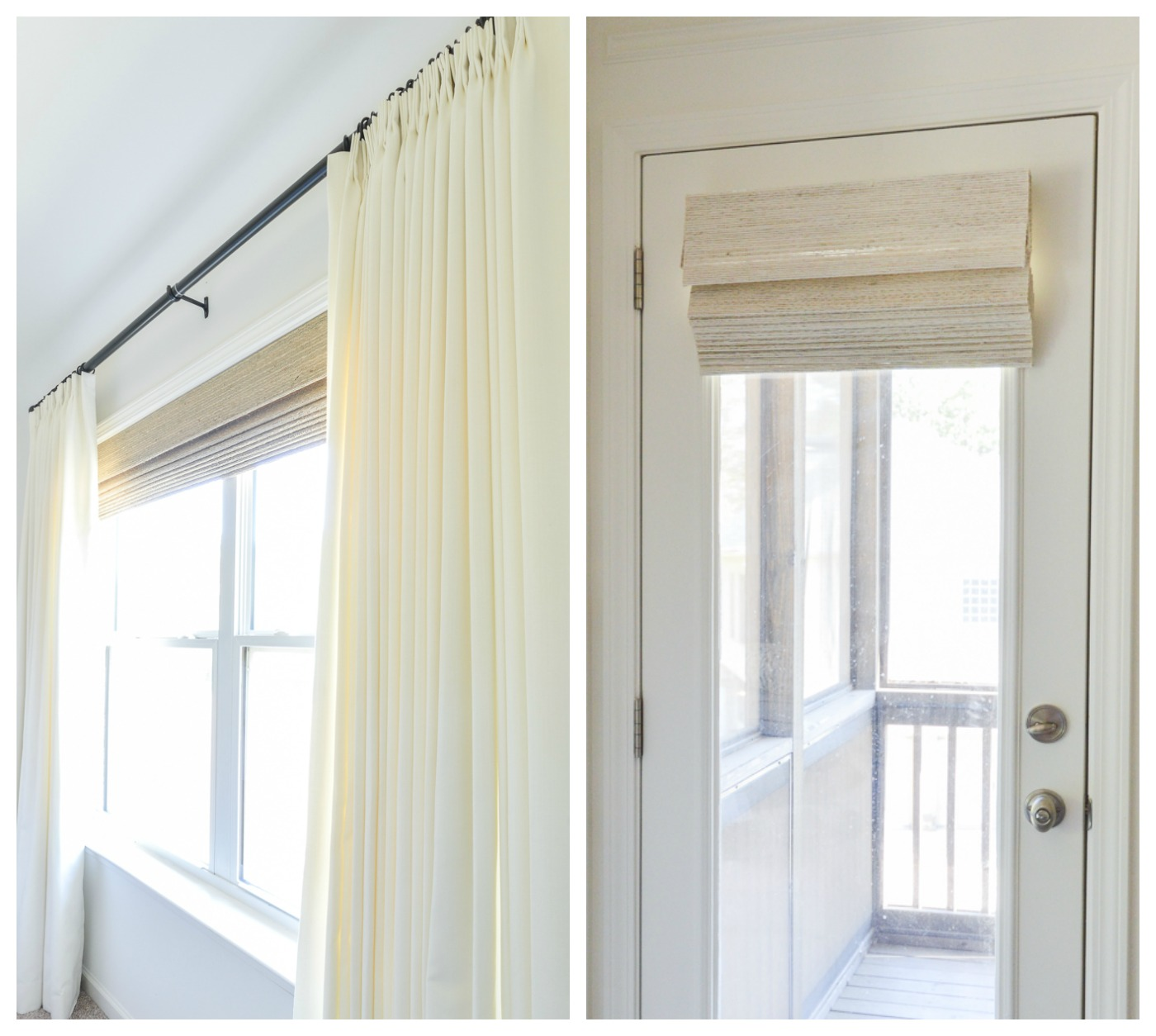 neutral shades and curtains for nursery