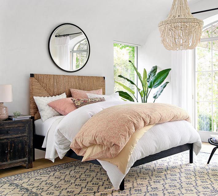 Boho bed and bedroom