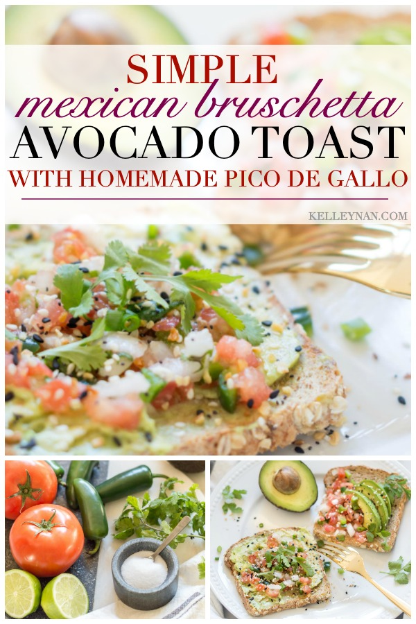 Southwest avocado toast with homemade pico de gallo recipe- a simple, healthy, delicious weekday breakfast!