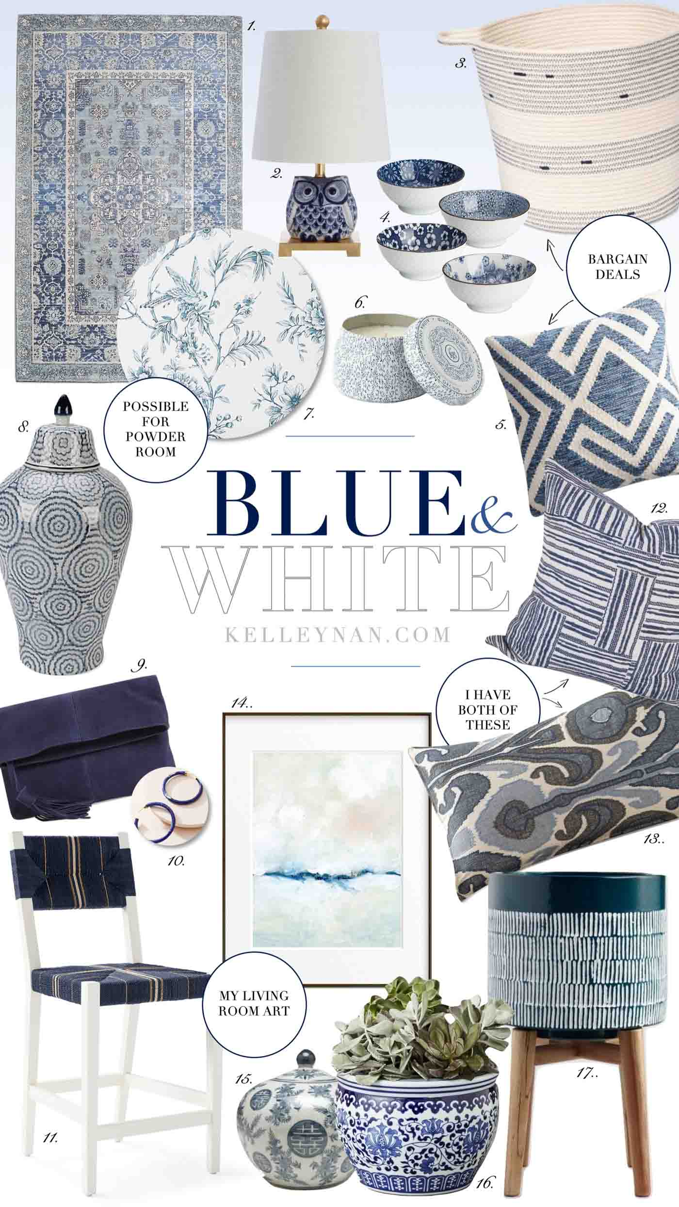 Best blue and white home decor for all budgets