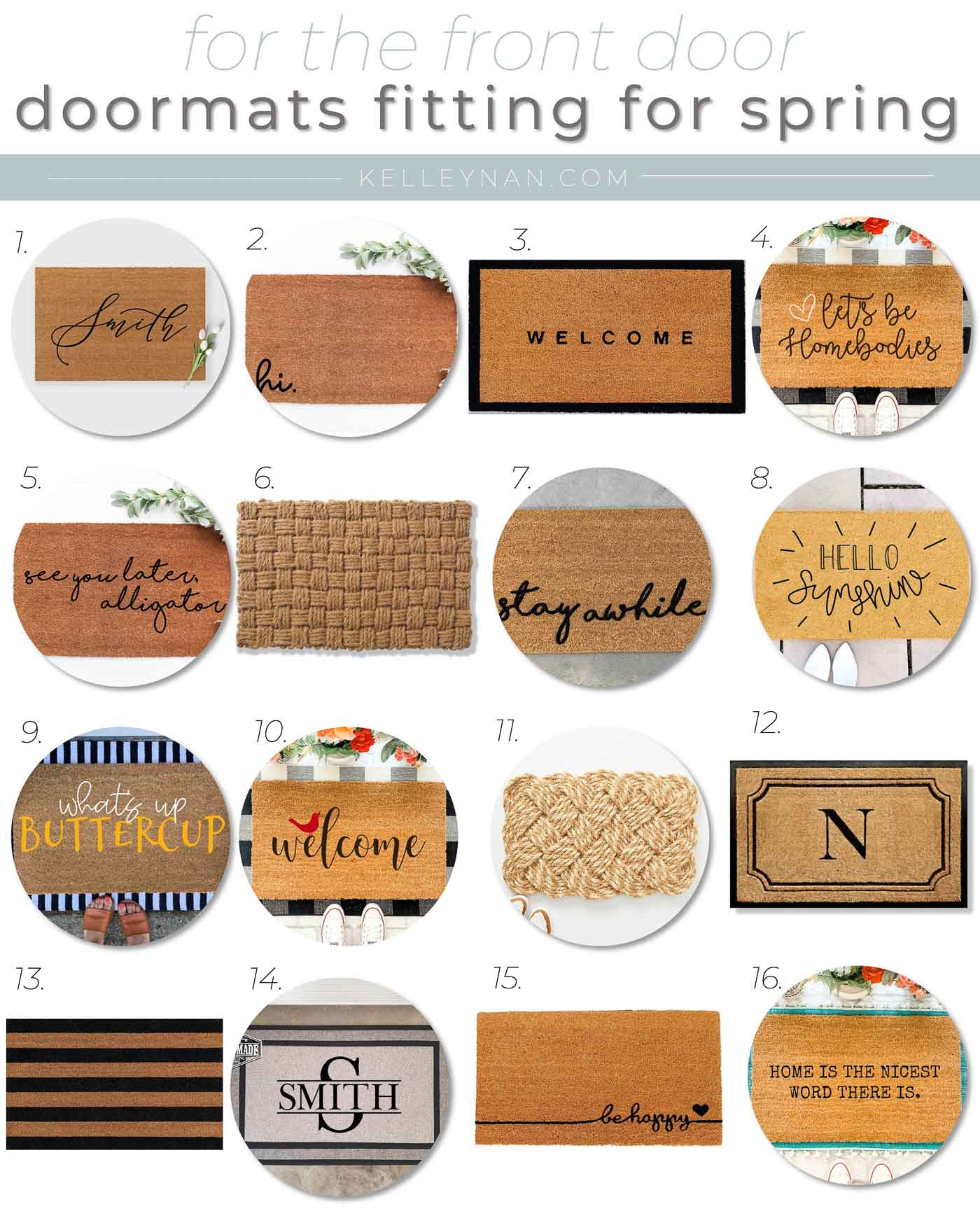 16 Doormats for the Front Door that are Perfect for Spring!