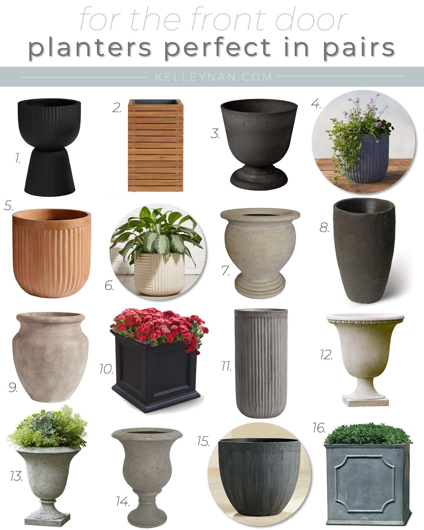 16 Pretty Front Porch Planters & Urns