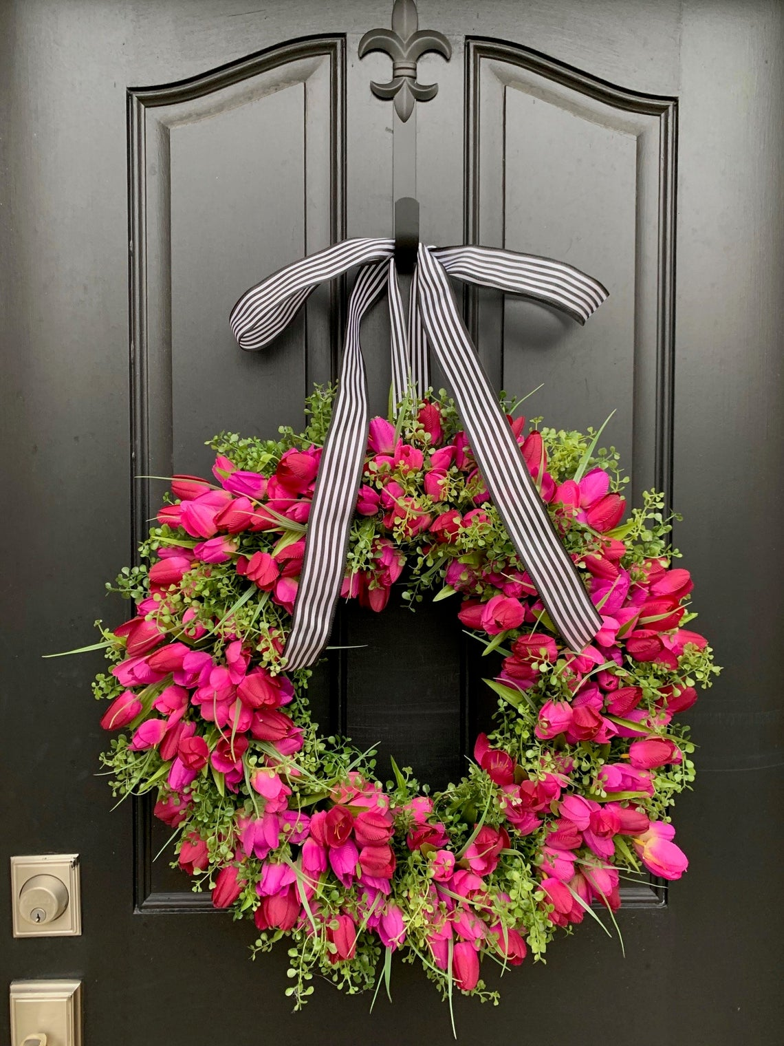 Spring Wreaths for the Front Porch