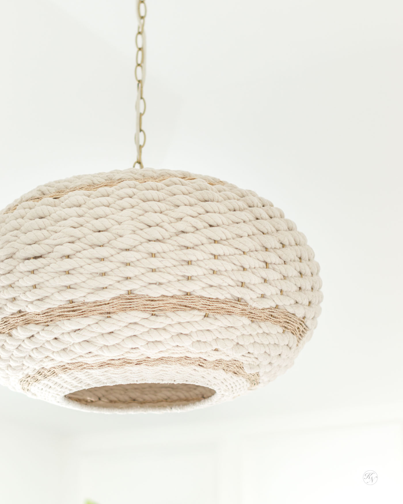 Boho Rope Pendant Light with