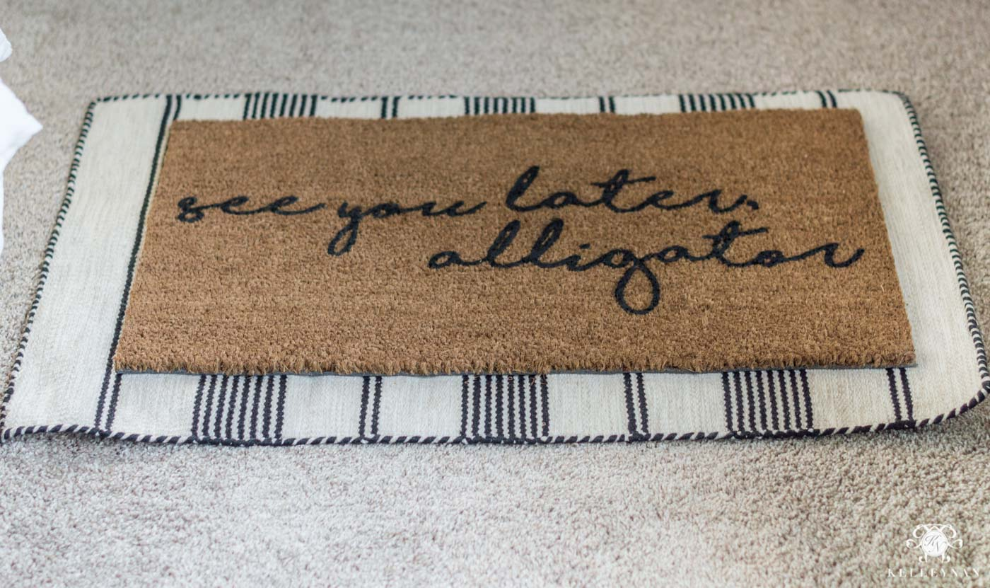 see you later alligator door mat
