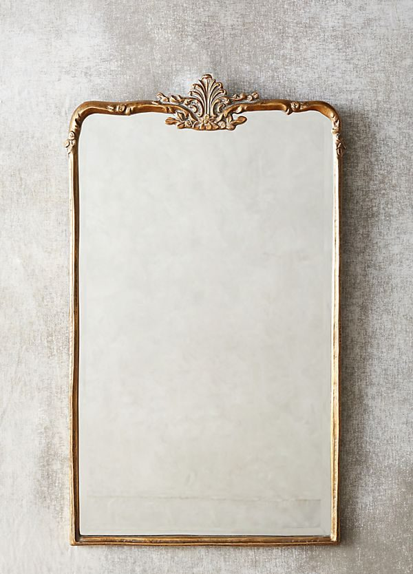 brass woodland anthropologie mirror