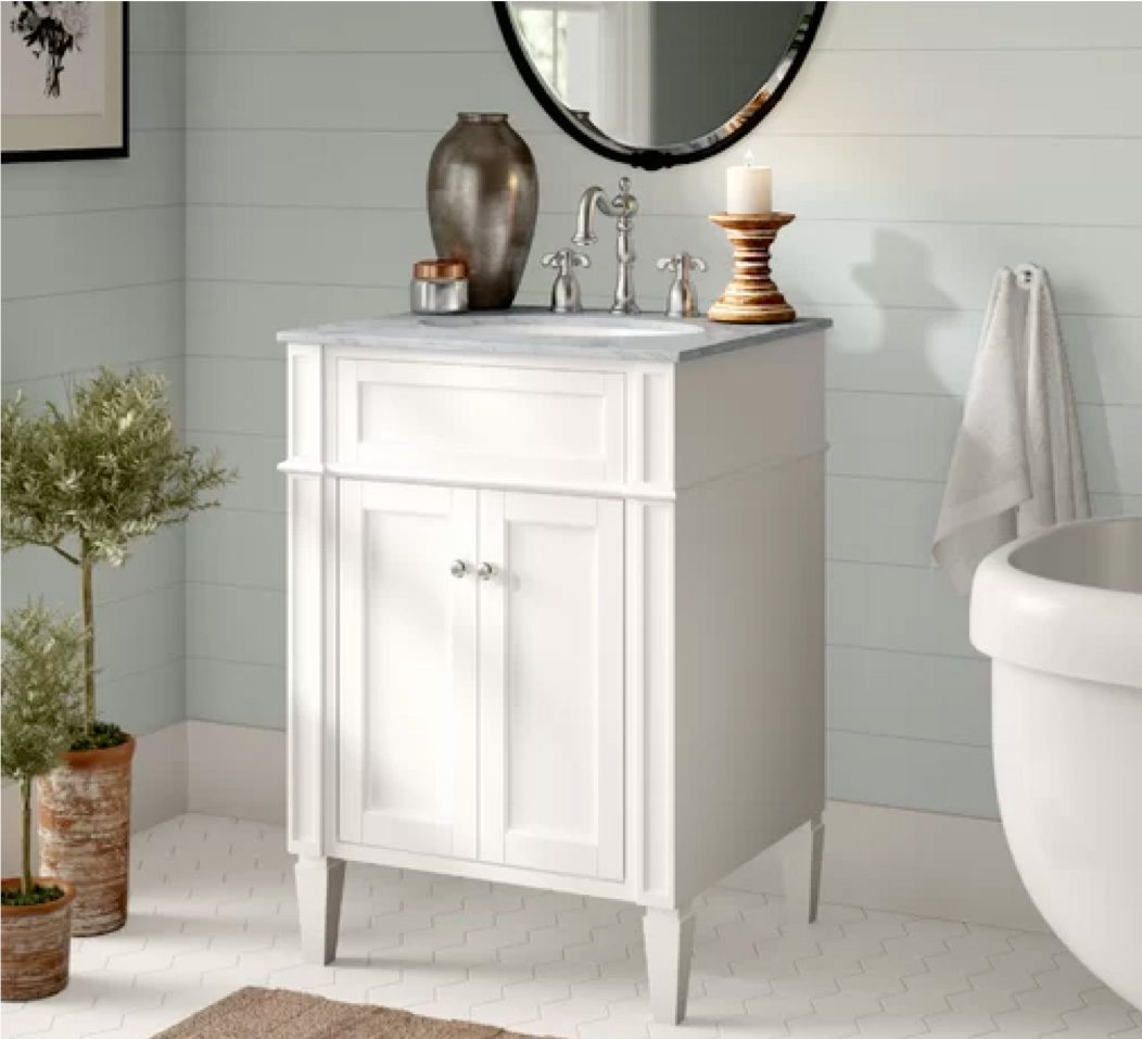 single vanity for powder room