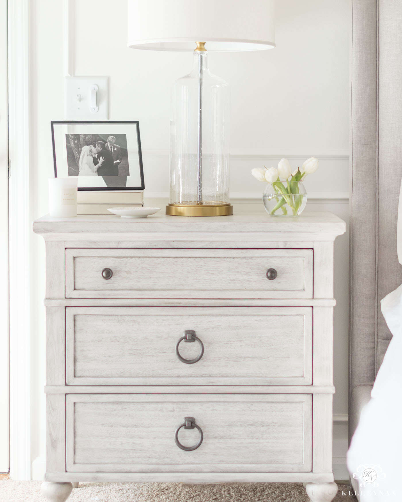 whitewashed bachelor chest nightstand