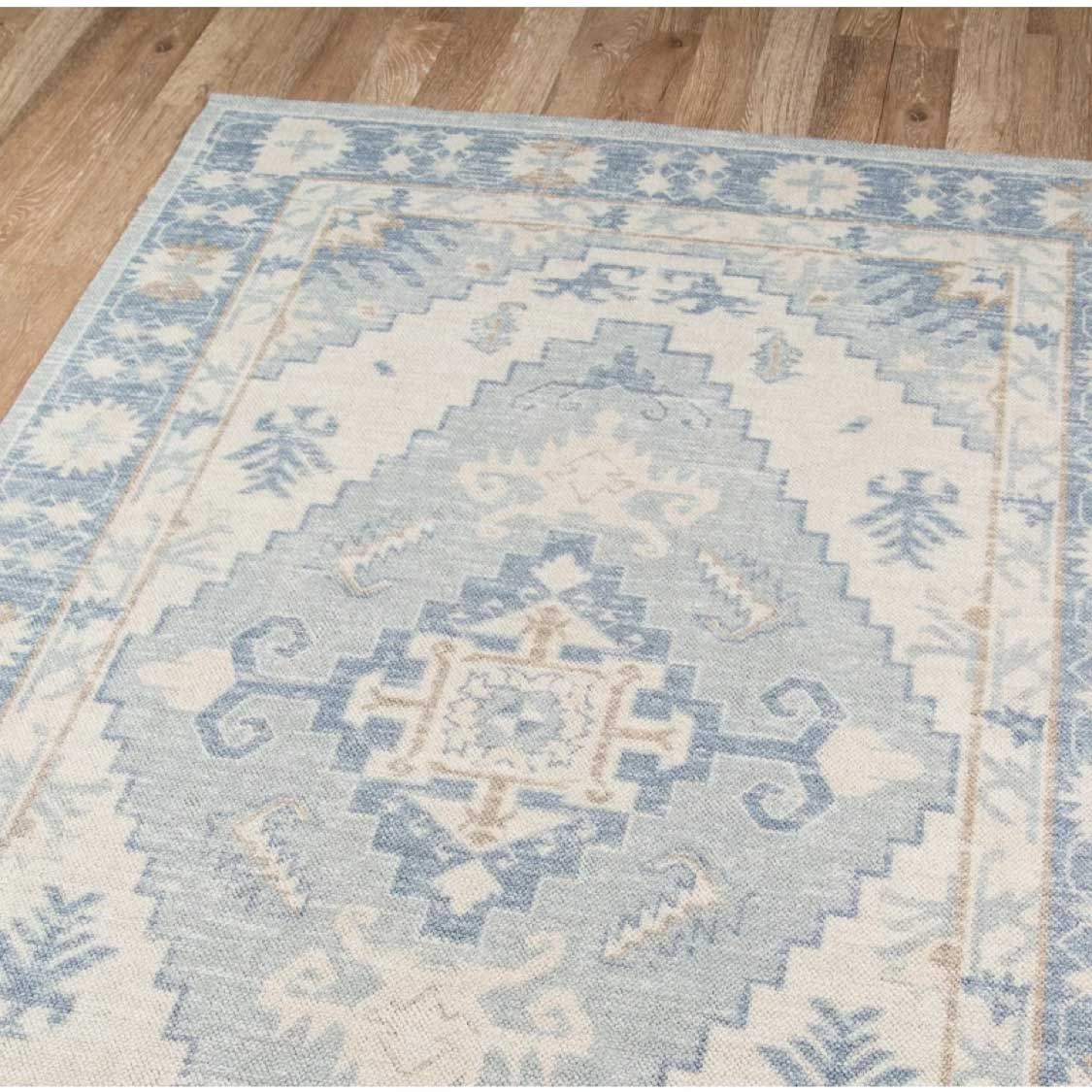 Blue turkish rug for dining room