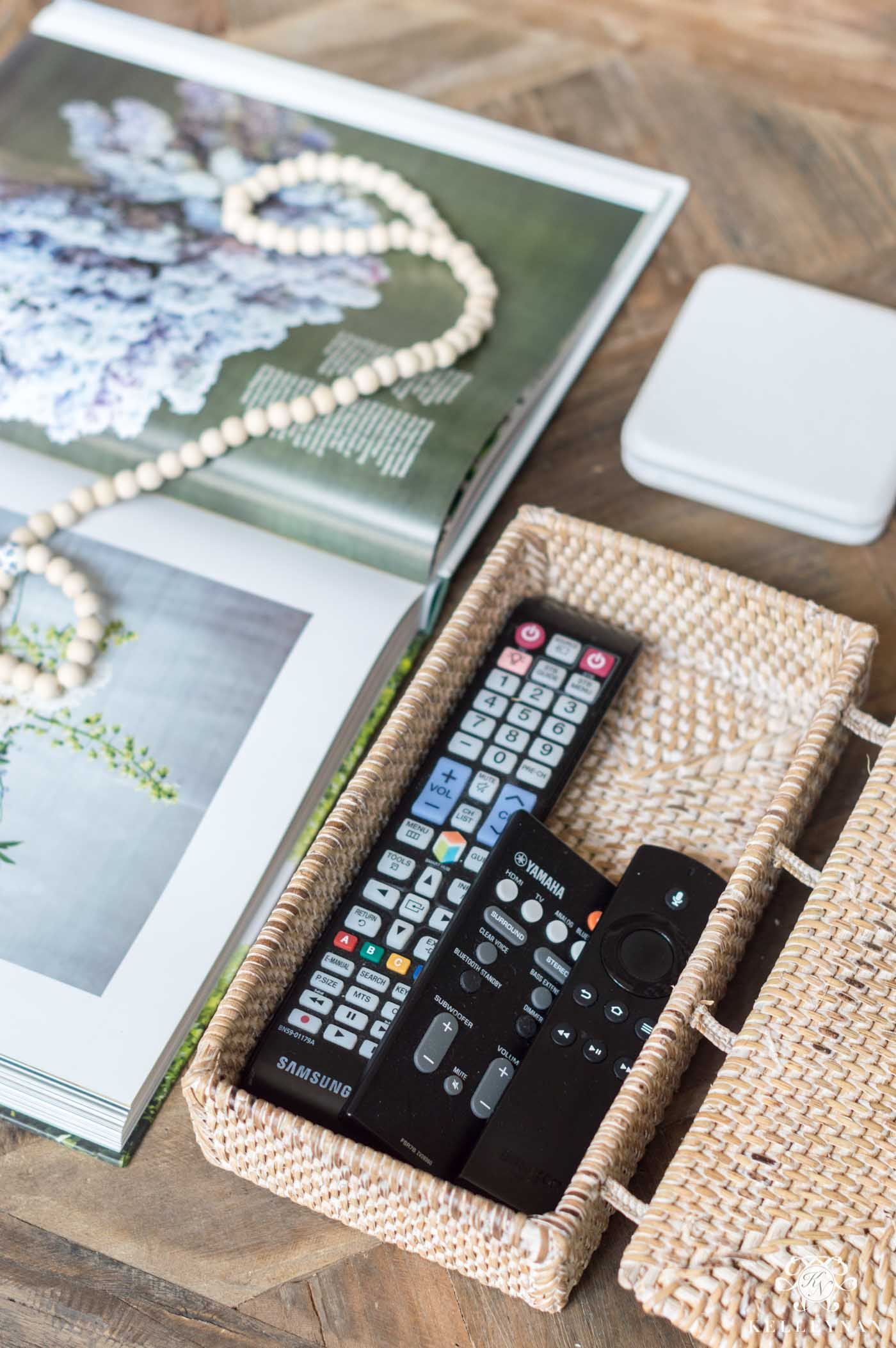 How to hide and store remote controls in the living room