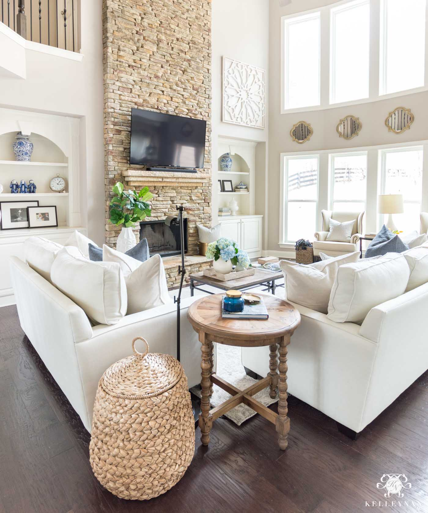 Living room storage and organization ideas