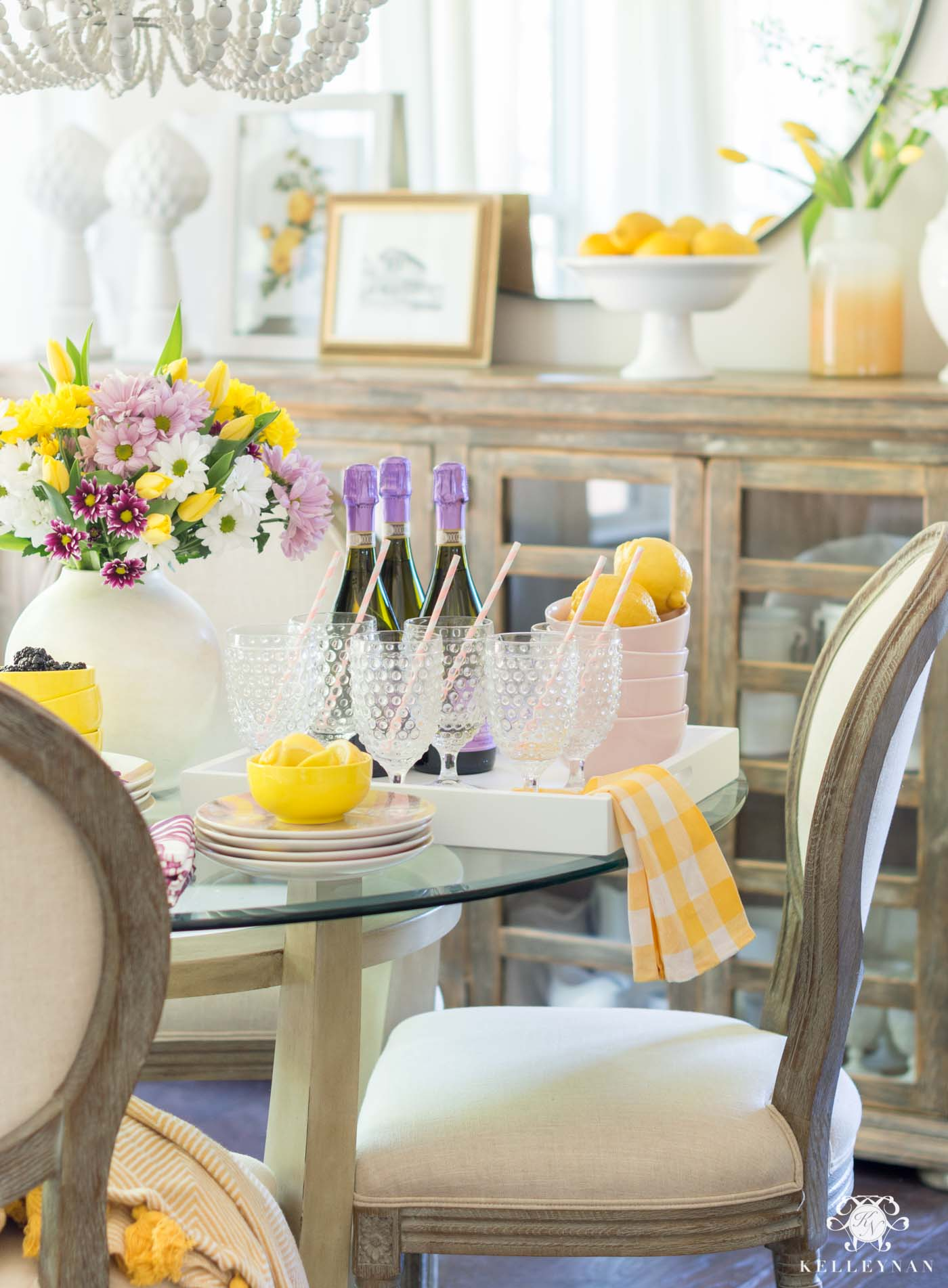Yellow and purple summer party theme ideas