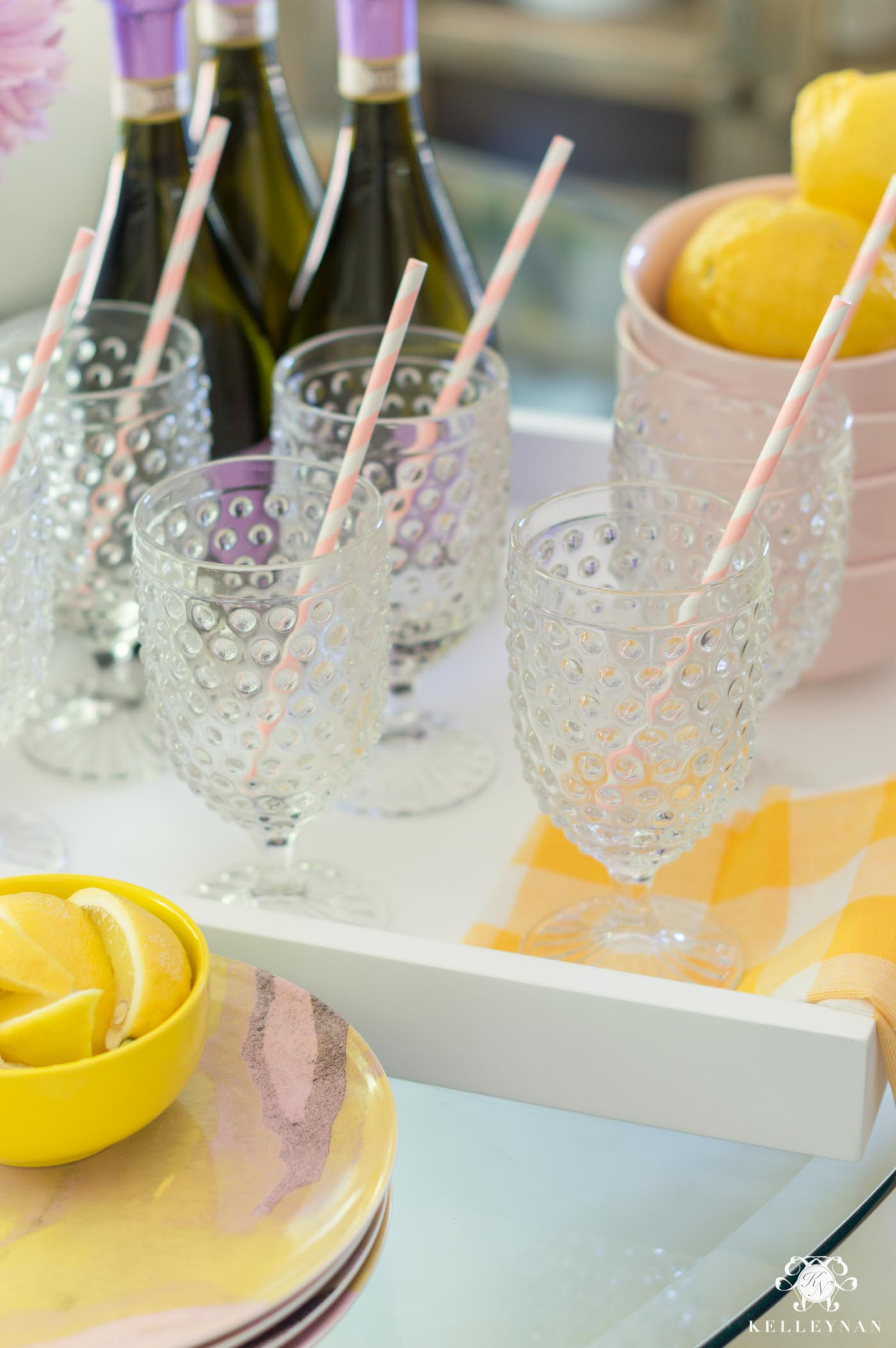Summer entertaining with a lemon theme