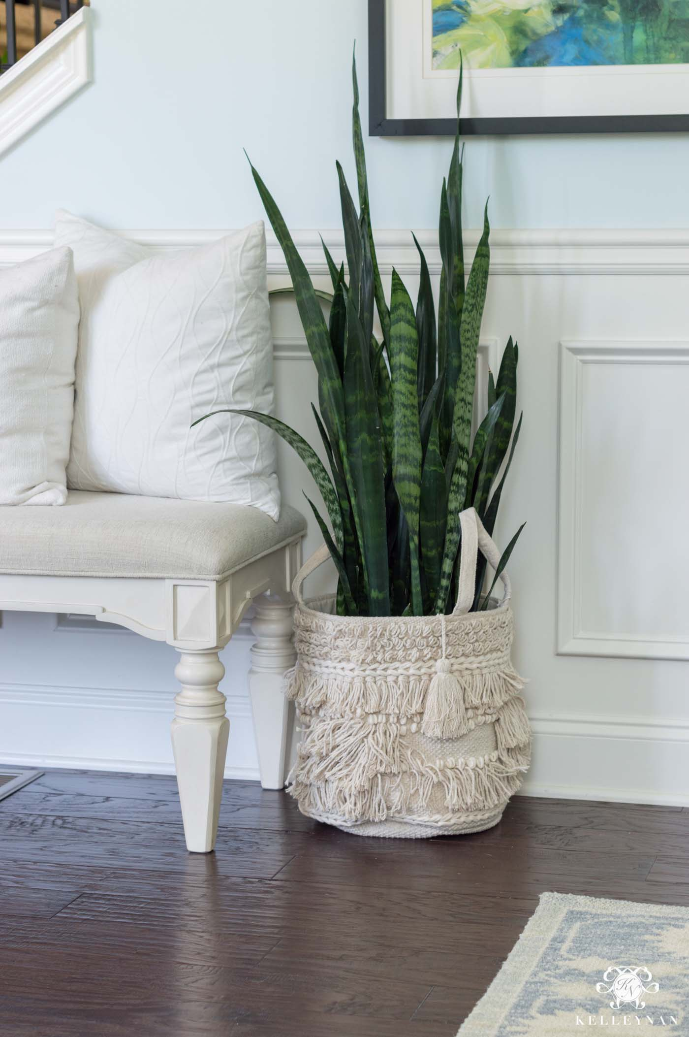 Boho indoor plant containers