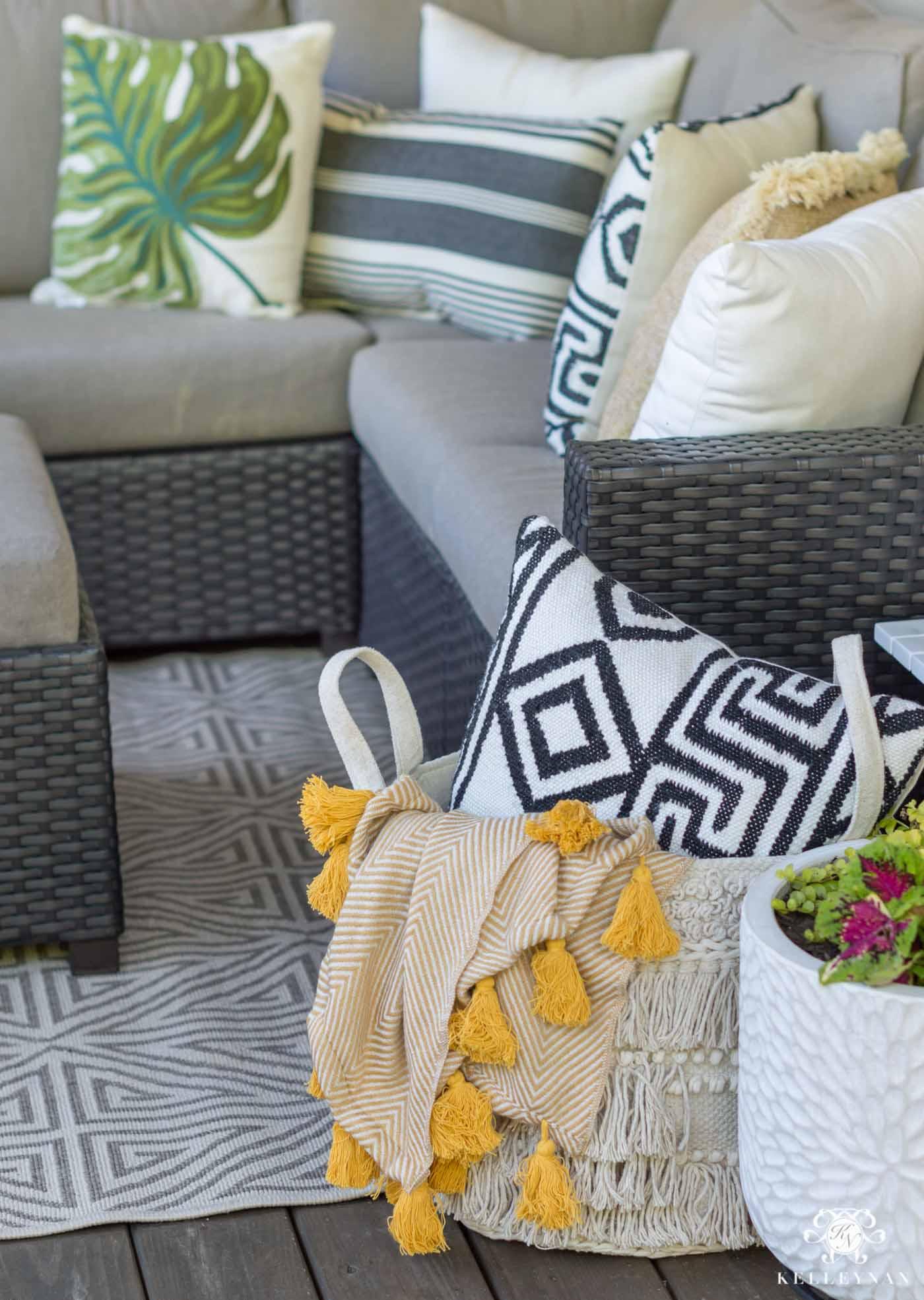 Boho outdoor living decor
