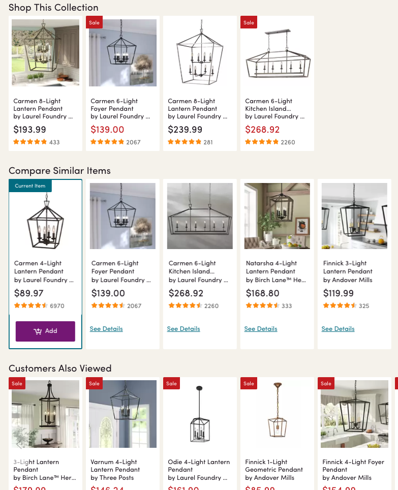Wayfair lantern lighting