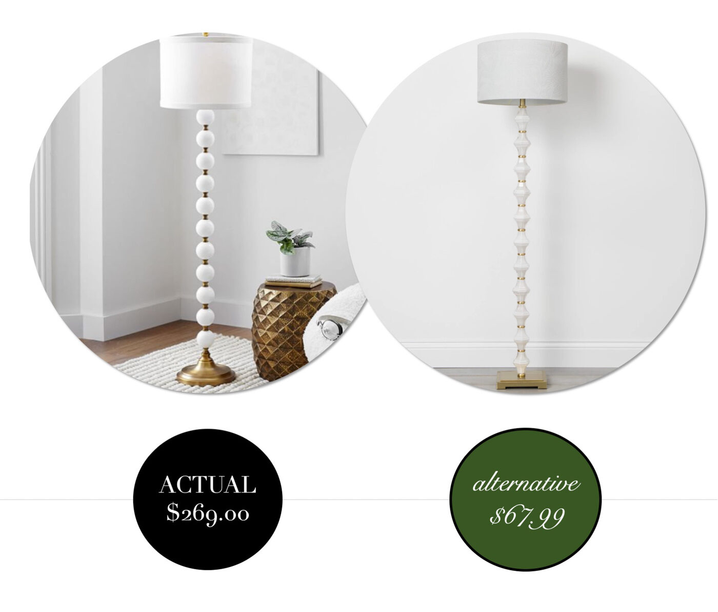 Get the look of designer lighting for less