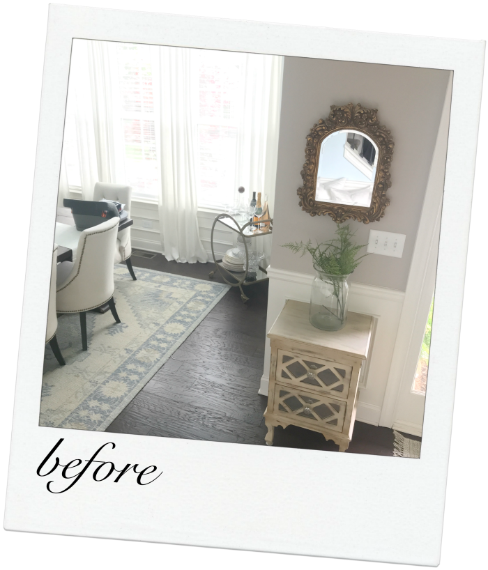 Small entry transitional makeover