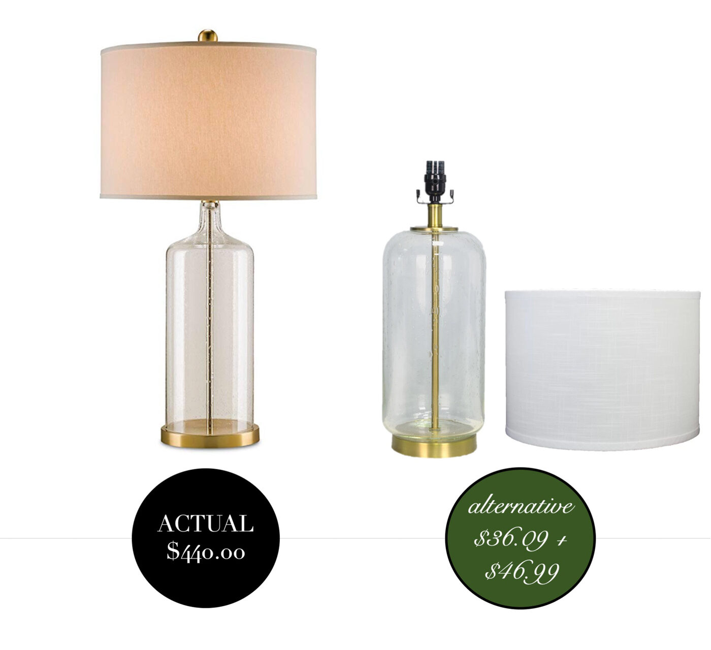 Designer lighting dupes- high and low and a look for less