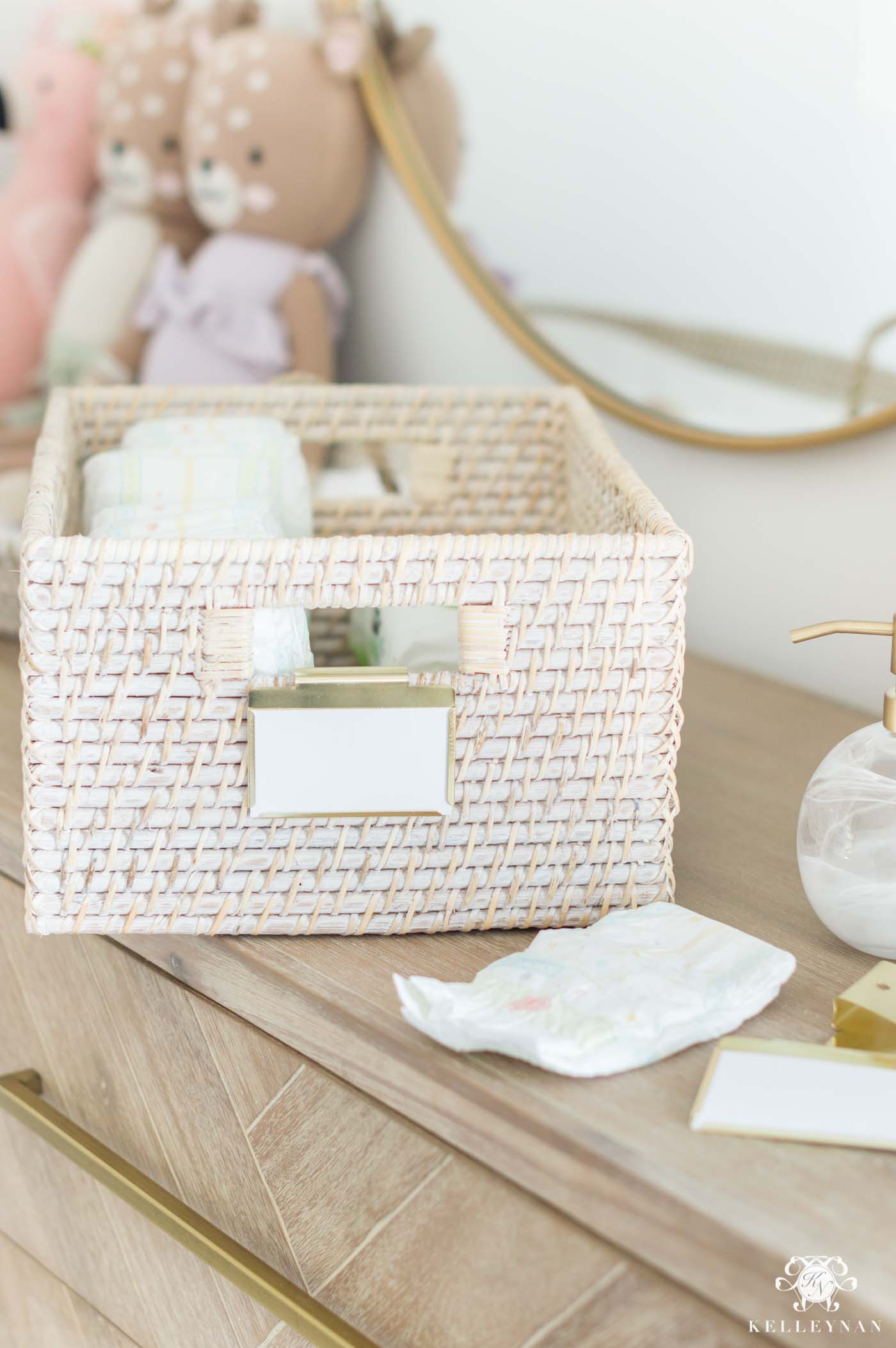 Best baskets and labels for baby room organization