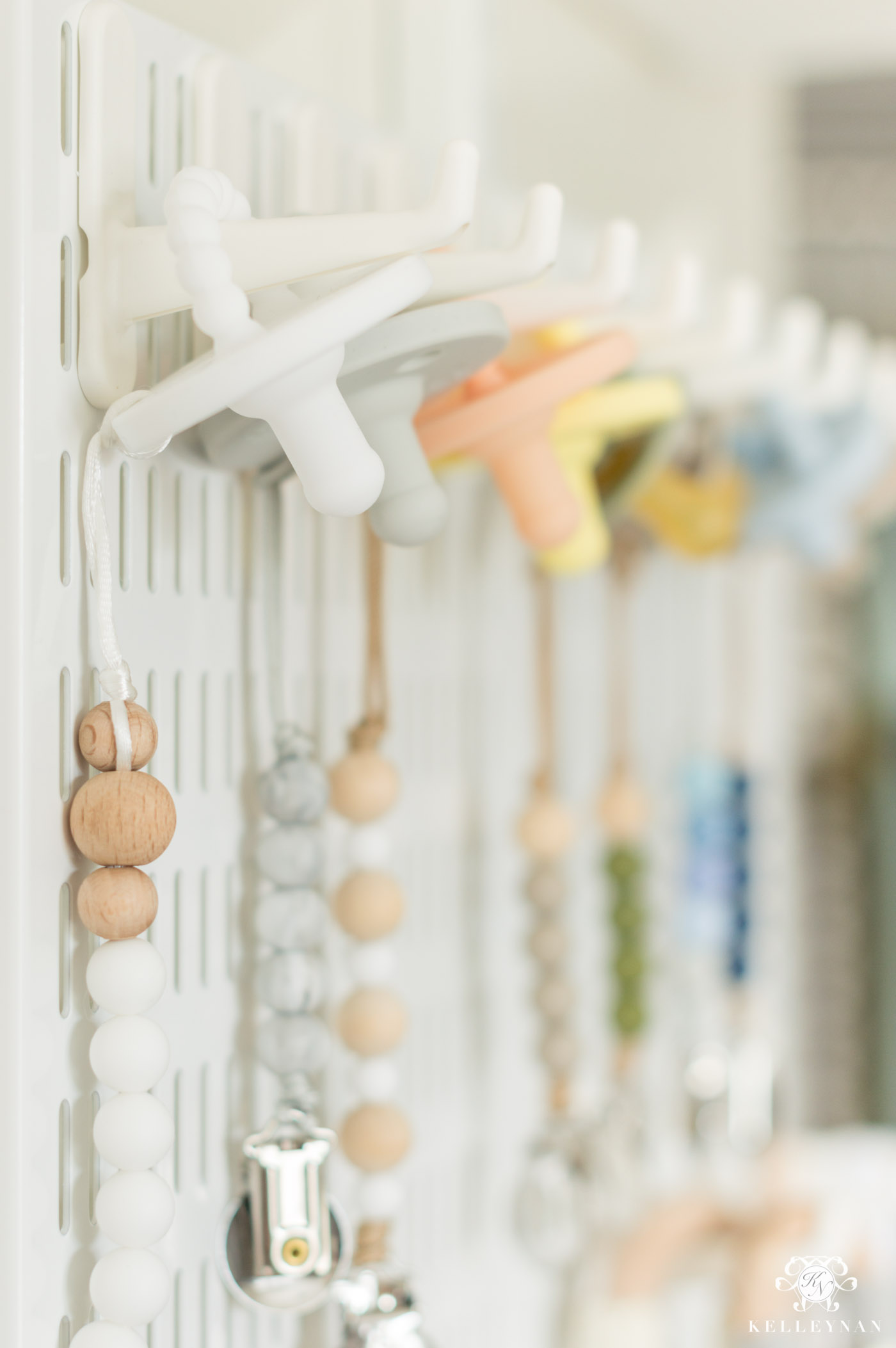 how to organize and display baby pacifiers