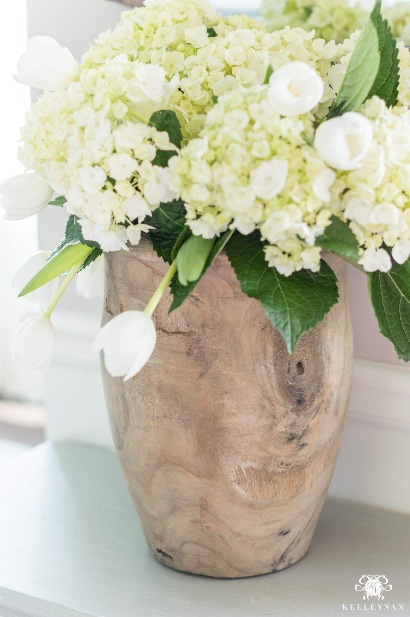 Wooden Planter and Entry Centerpiece