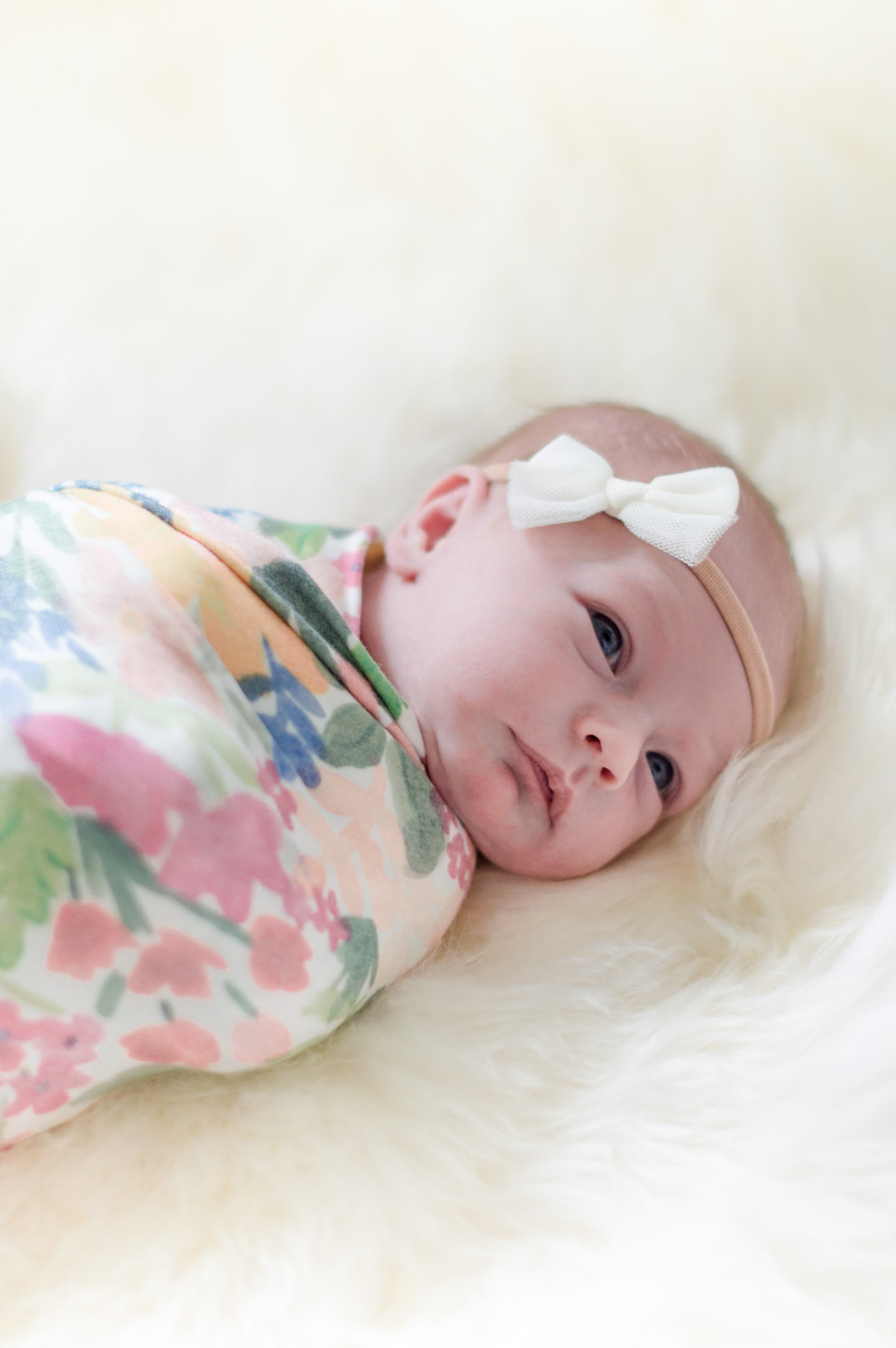 Copper Pearl Floral Swaddle