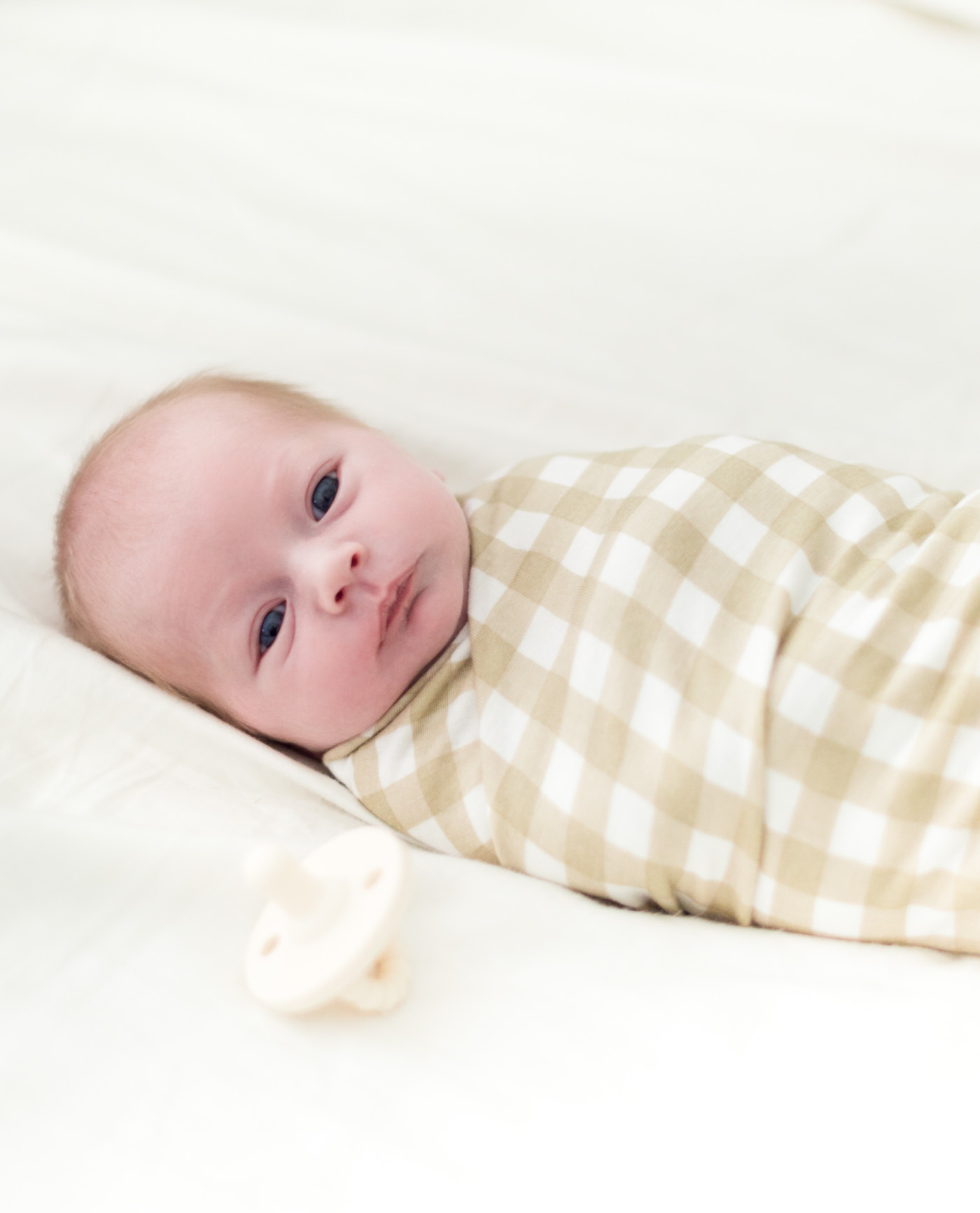 Solly Baby Gingham Swaddle