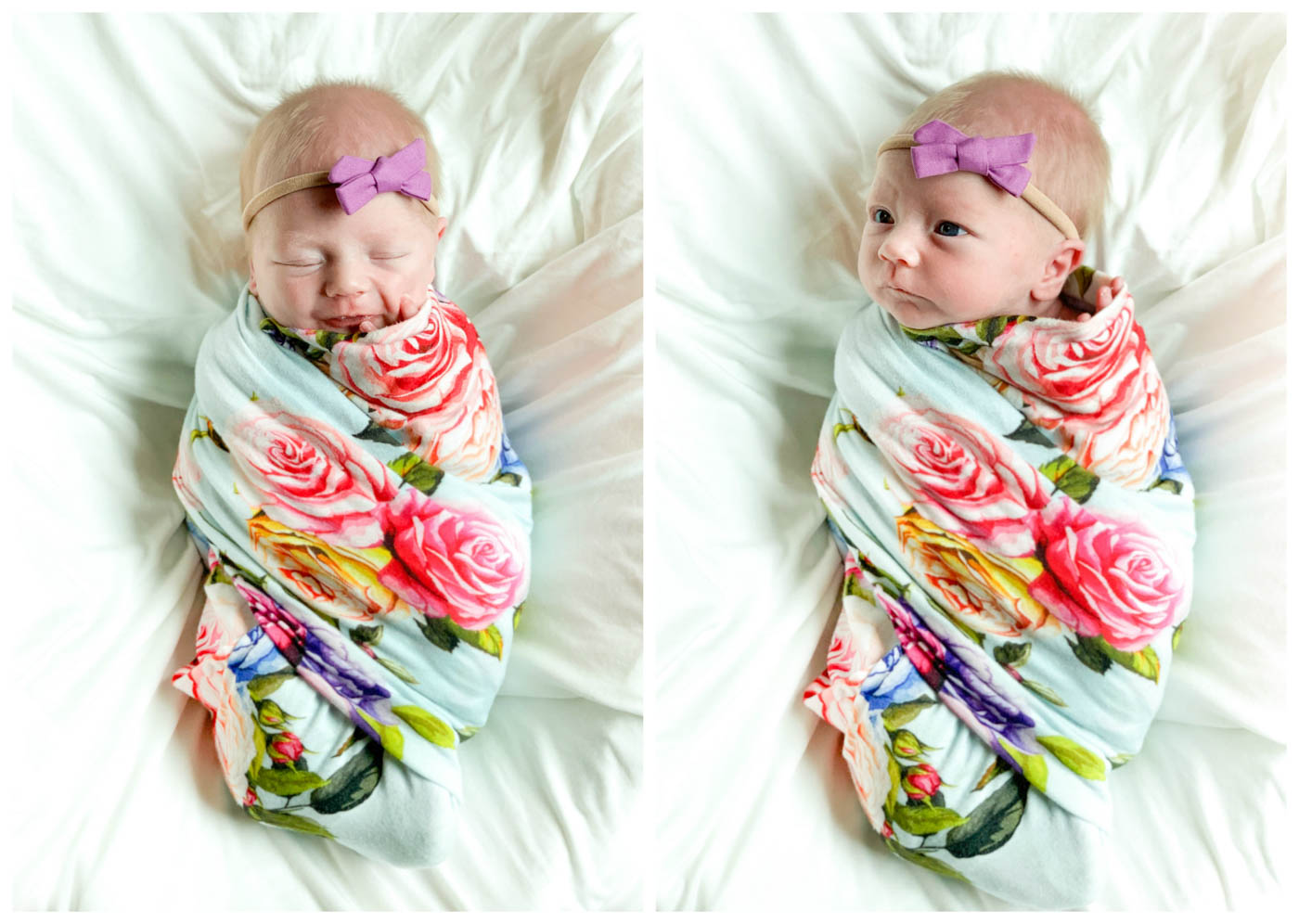 Posh Peanut Country Floral Swaddle