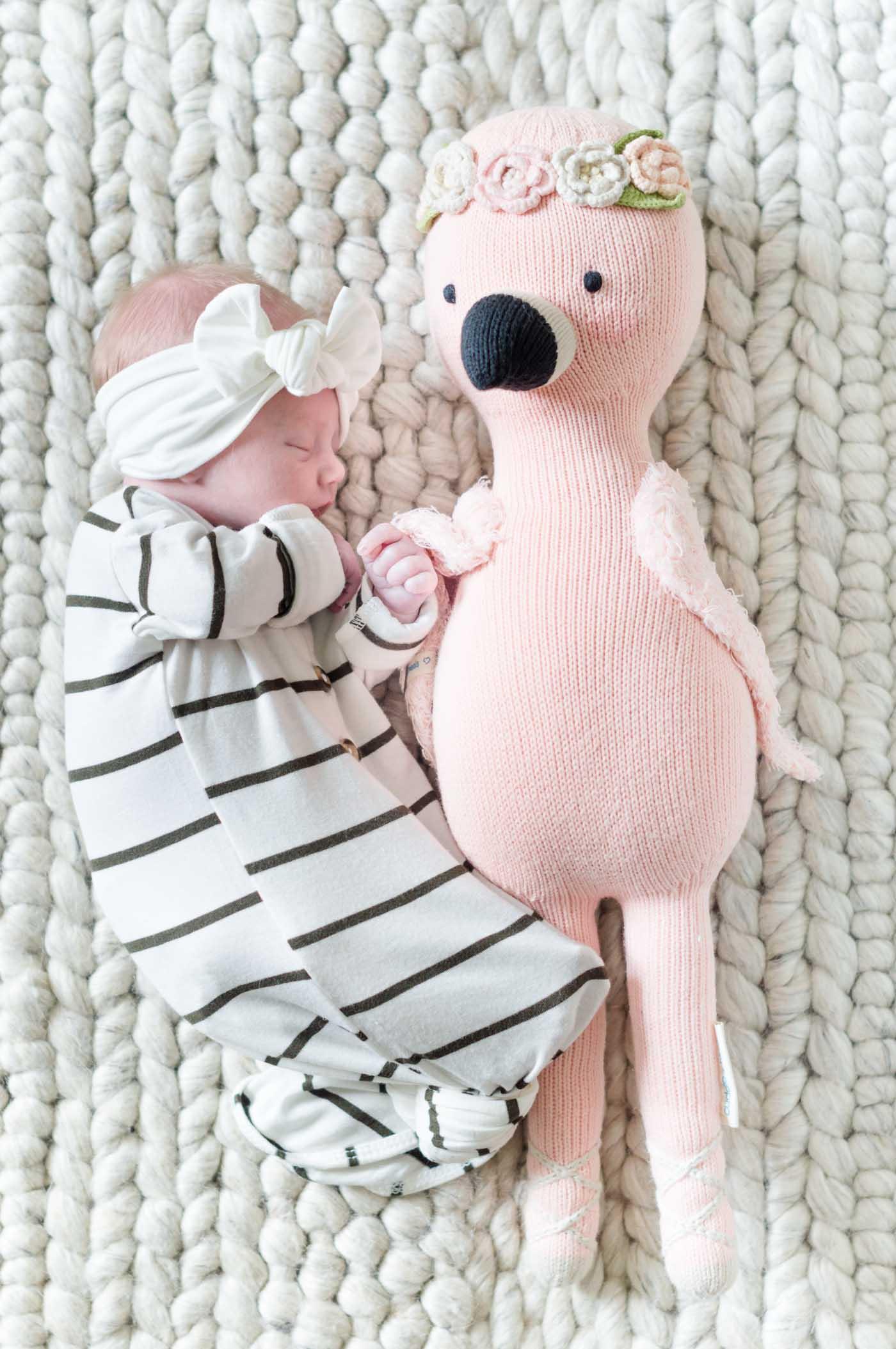 Penelope Cuddle and Kind Flamingo