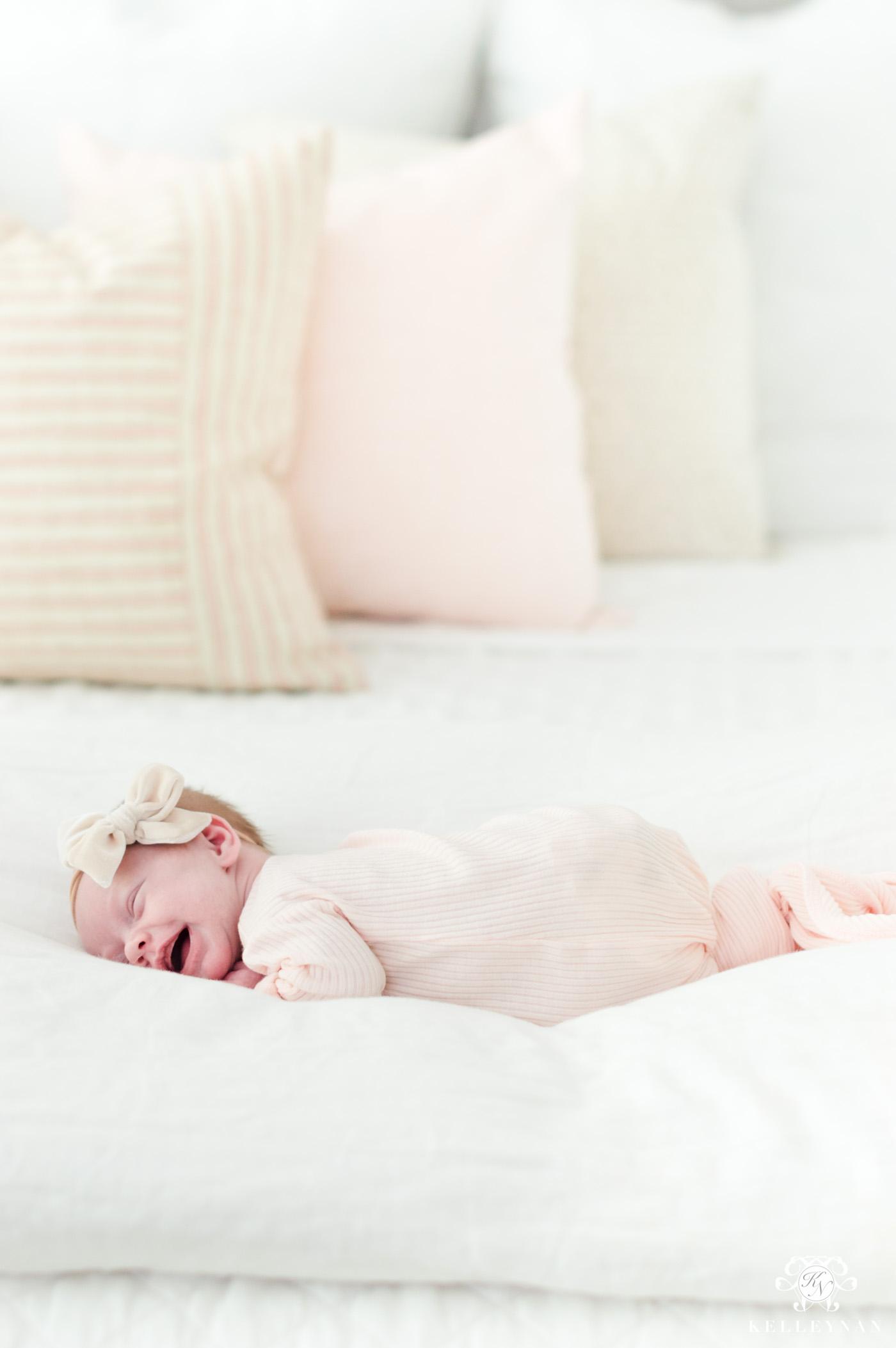 Little girl newborn lifestyle photos