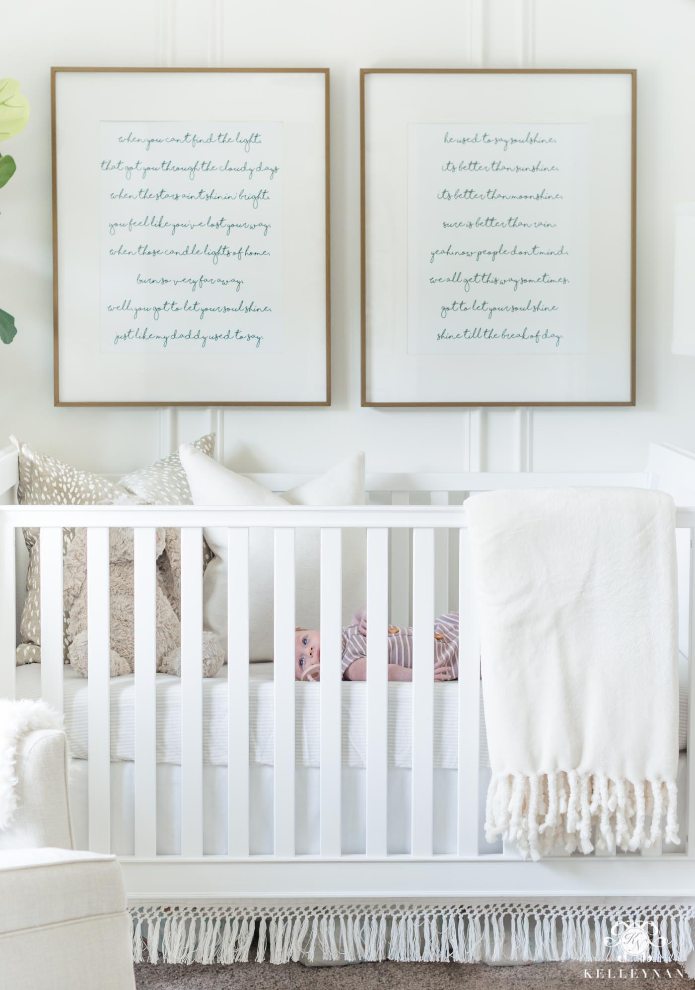 20 Classic Song Lyrics as Art Above the Baby Nursery Crib